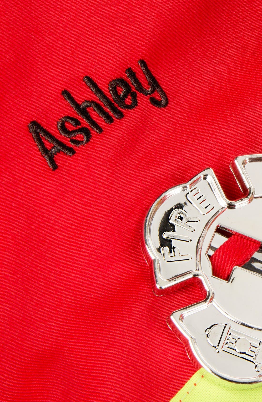 Personalized Fire Chief Costume Set,                             Alternate thumbnail 2, color,                             Red
