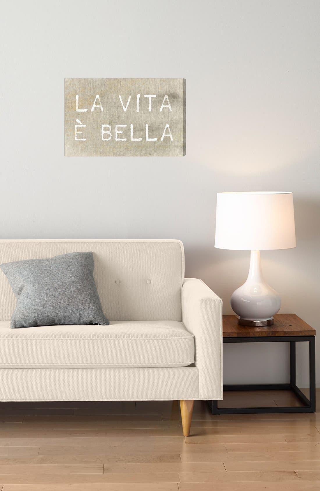 'La Vita È Bella' Wall Art,                             Alternate thumbnail 2, color,                             Beige/ Khaki