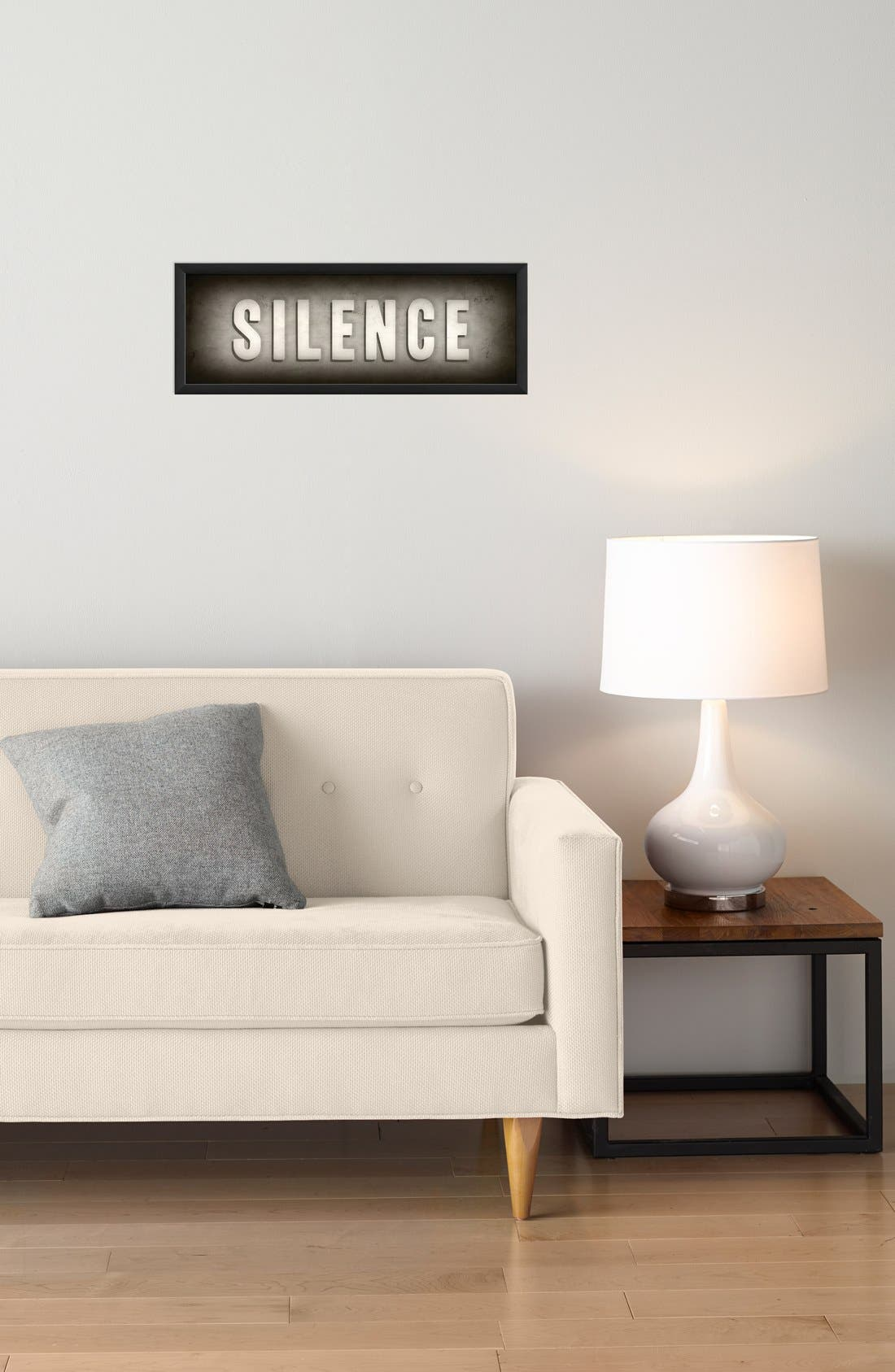 Alternate Image 2  - Spicher and Company 'Silence' Vintage Look Theater Sign Artwork