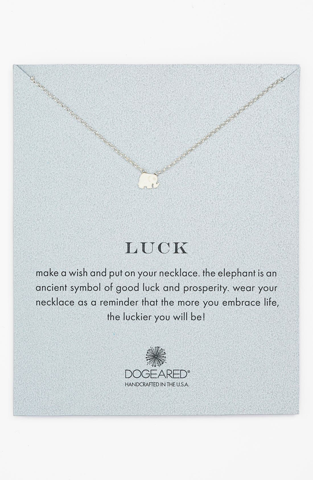 Alternate Image 1 Selected - Dogeared 'Whispers - Luck' Boxed Pendant Necklace