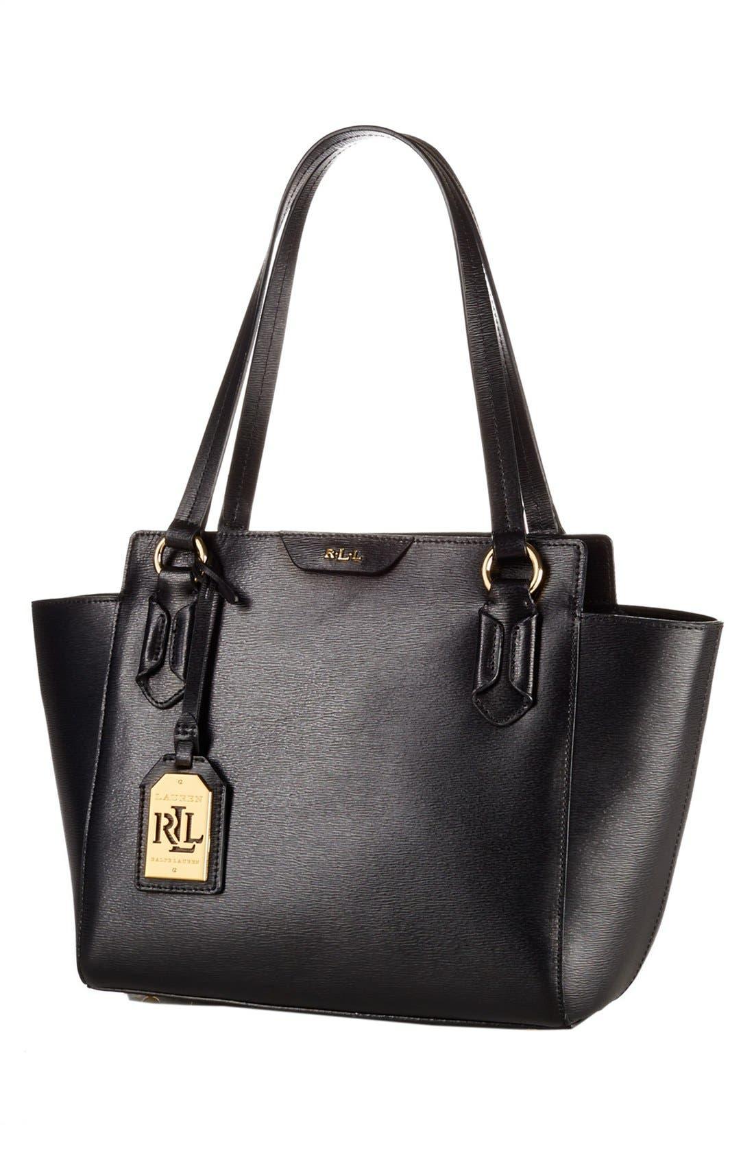 Alternate Image 1 Selected - Lauren Ralph Lauren 'Tate' Leather Shopper