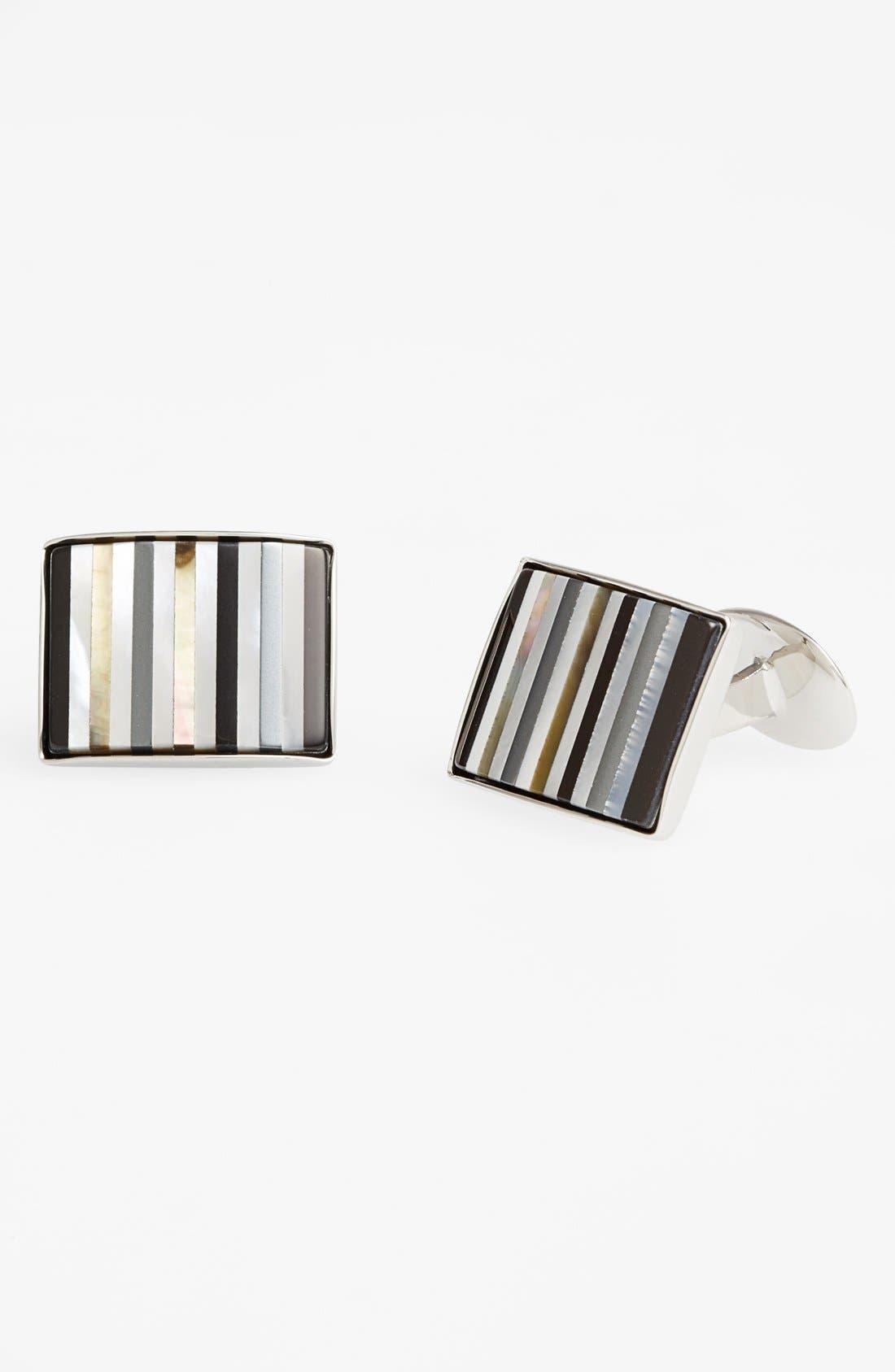 Semiprecious Cuff Links,                         Main,                         color, Sterling Silver/ Multicolored