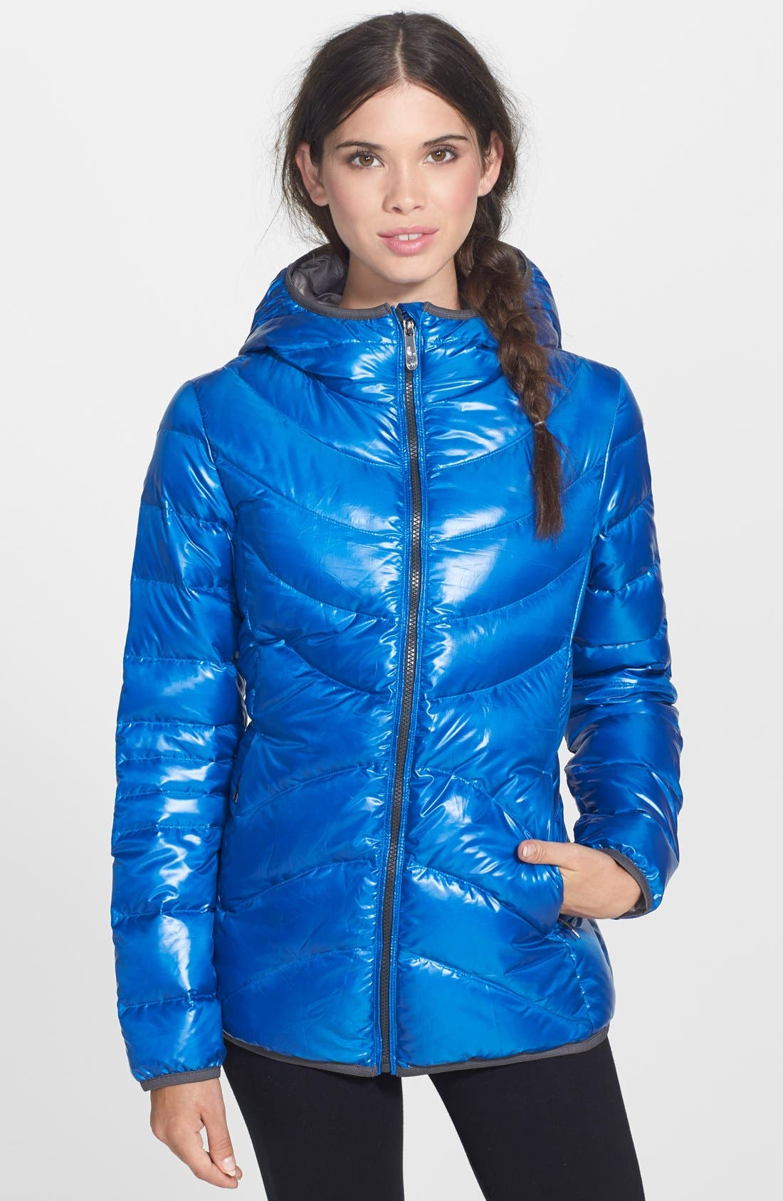 Alternate Image 1 Selected - Lole 'Elena 3' Quilted Downglow Hooded Jacket