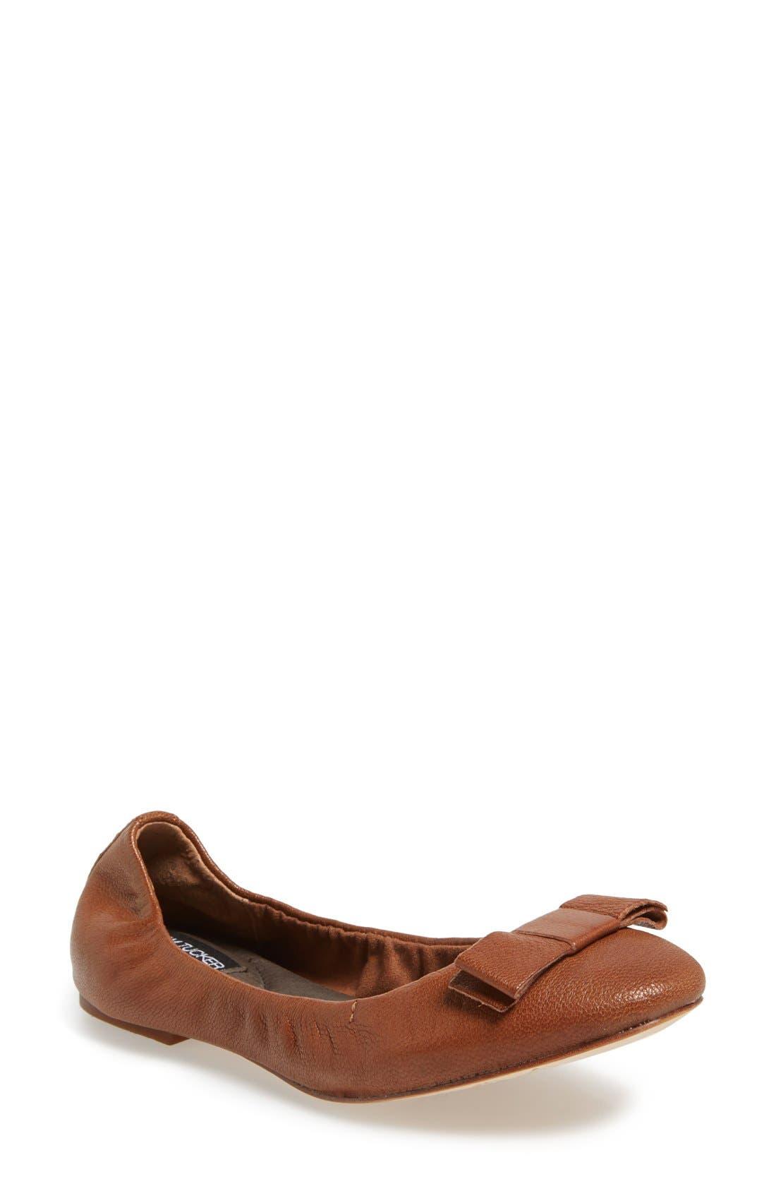 Alternate Image 1 Selected - Adam Tucker Me Too 'Prescott' Leather Ballet Flat (Women)