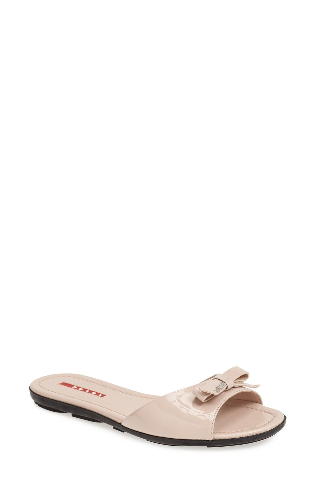 Alternate Image 1 Selected - Prada Bow Slide Sandal (Women)