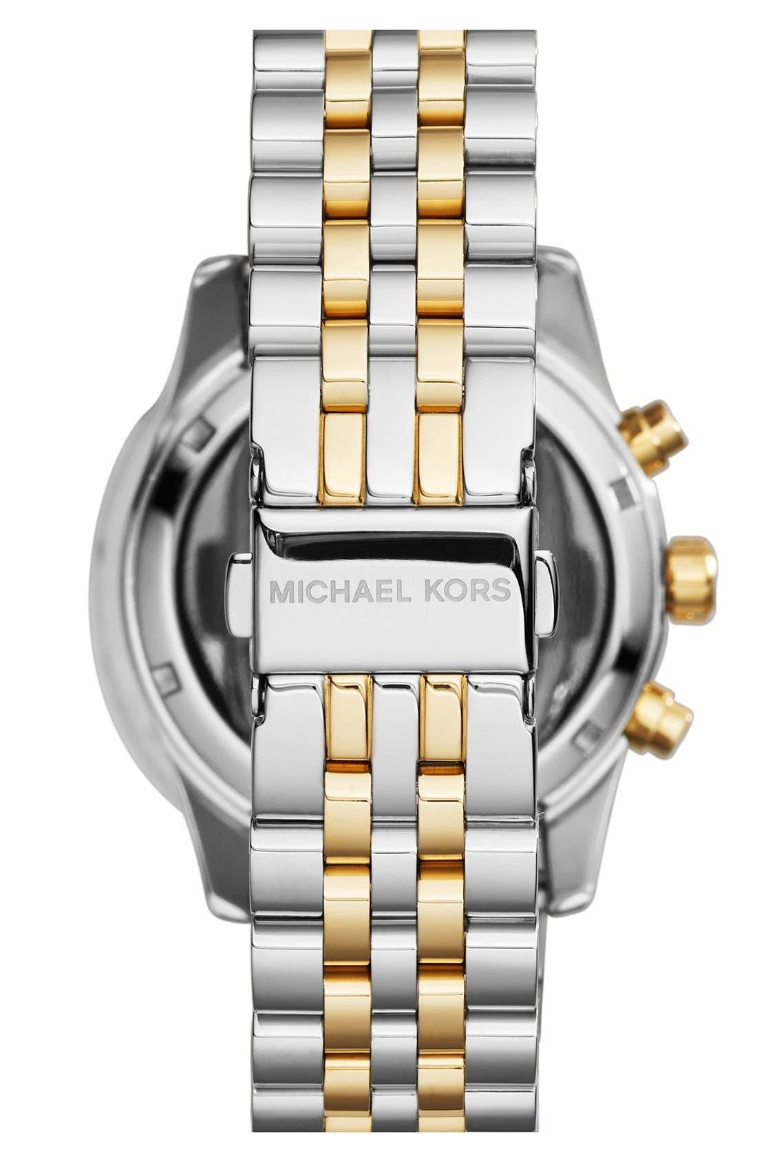 Alternate Image 2  - Michael Kors 'Lexington' Chronograph Bracelet Watch, 38mm