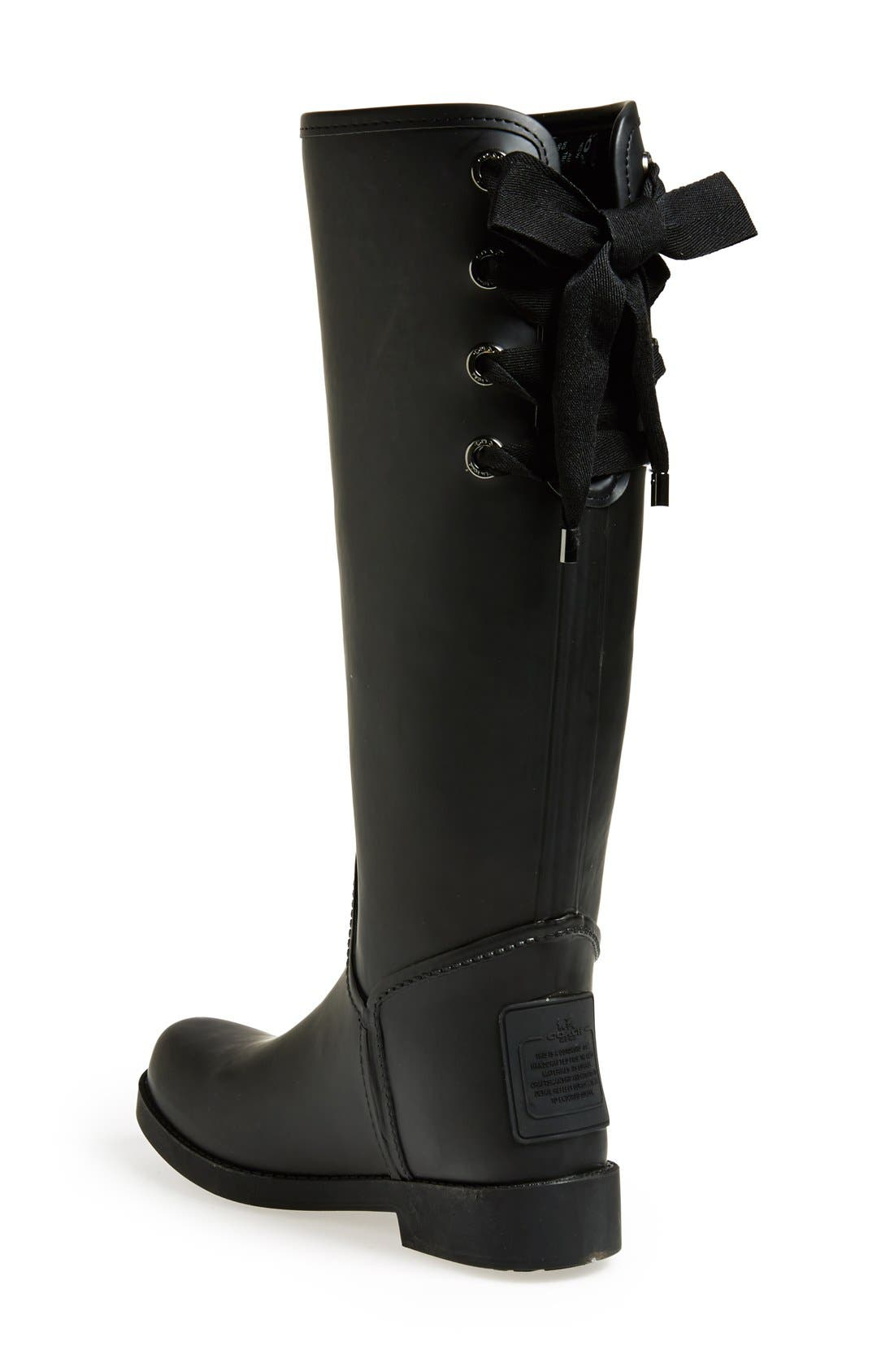 Alternate Image 2  - COACH 'Tristee' Waterproof Rain Boot