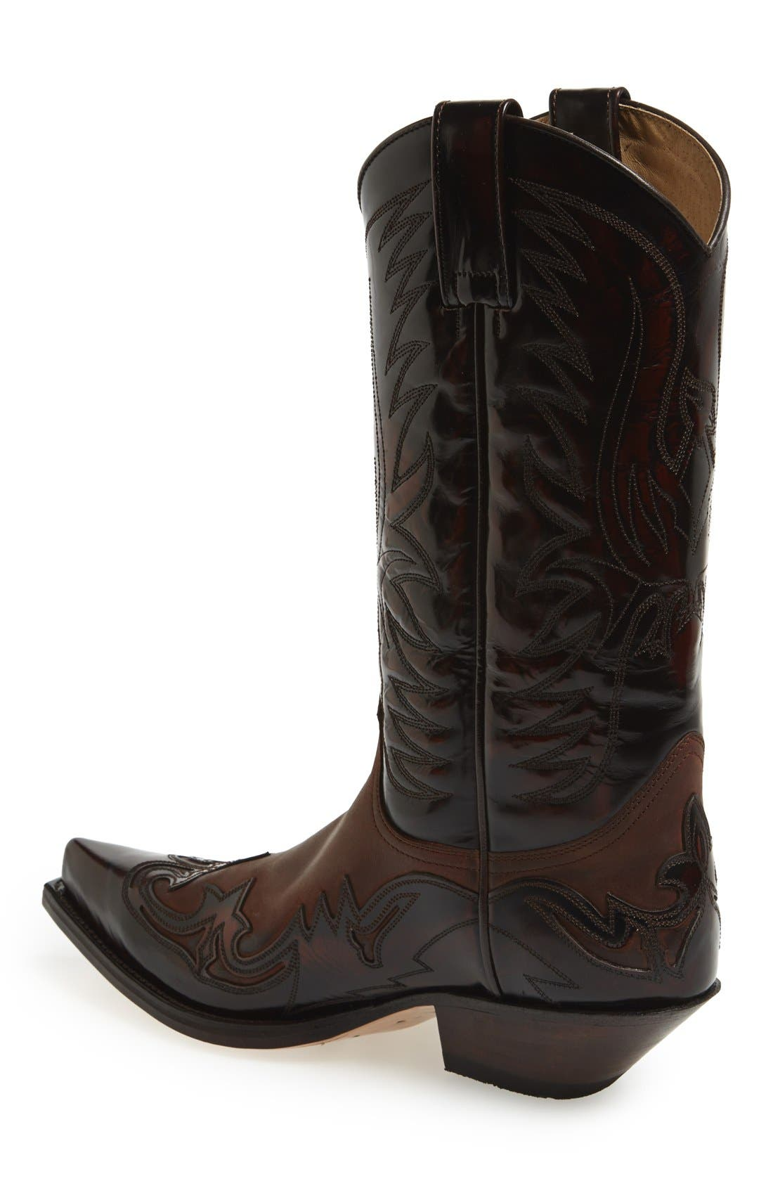 'Duke' Western Boot,                             Alternate thumbnail 3, color,                             Brown