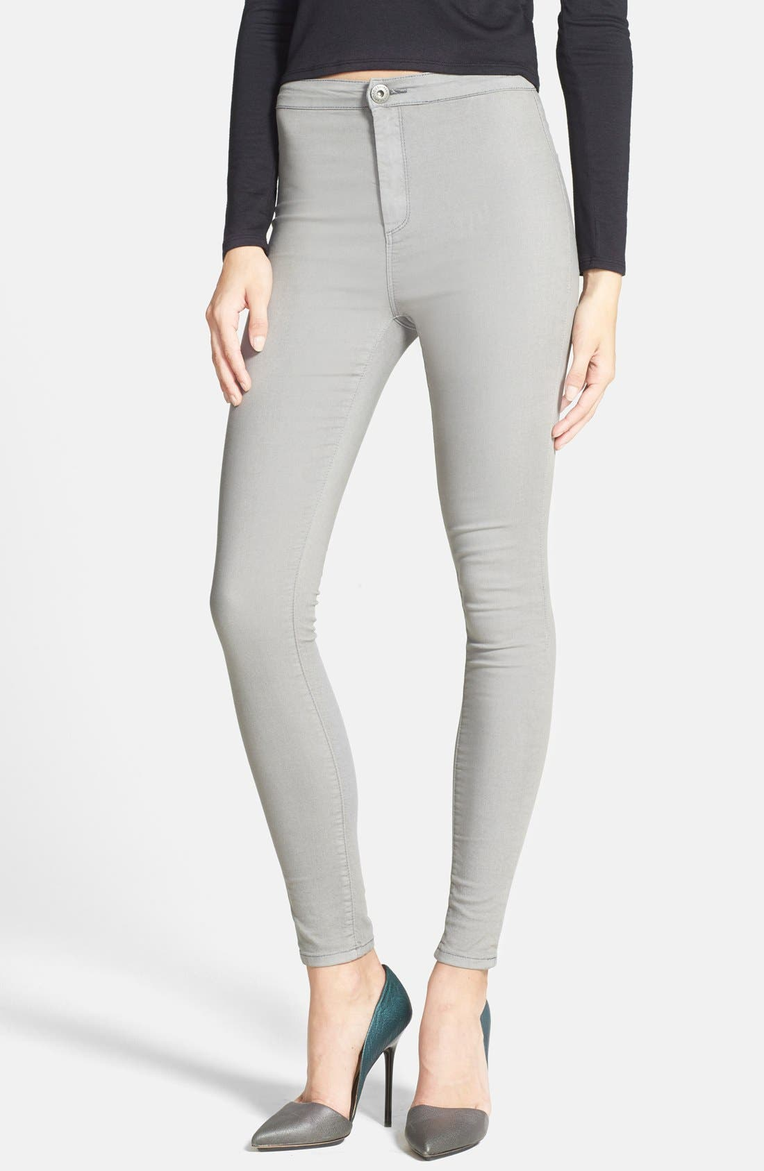 Alternate Image 1 Selected - Glamorous High Rise Denim Leggings