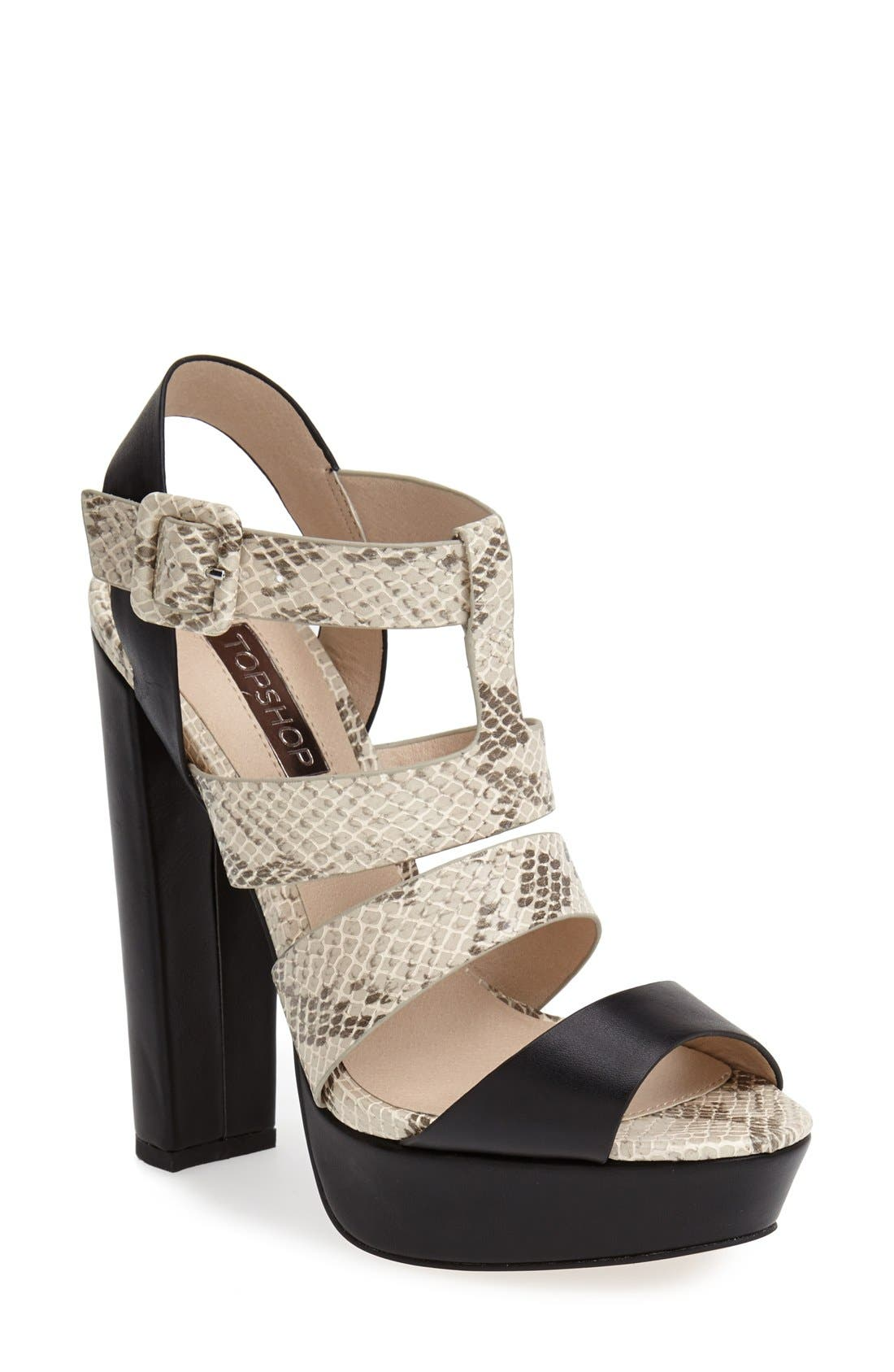 Alternate Image 1 Selected - Topshop 'Lucy' Gladiator Sandal (Women)