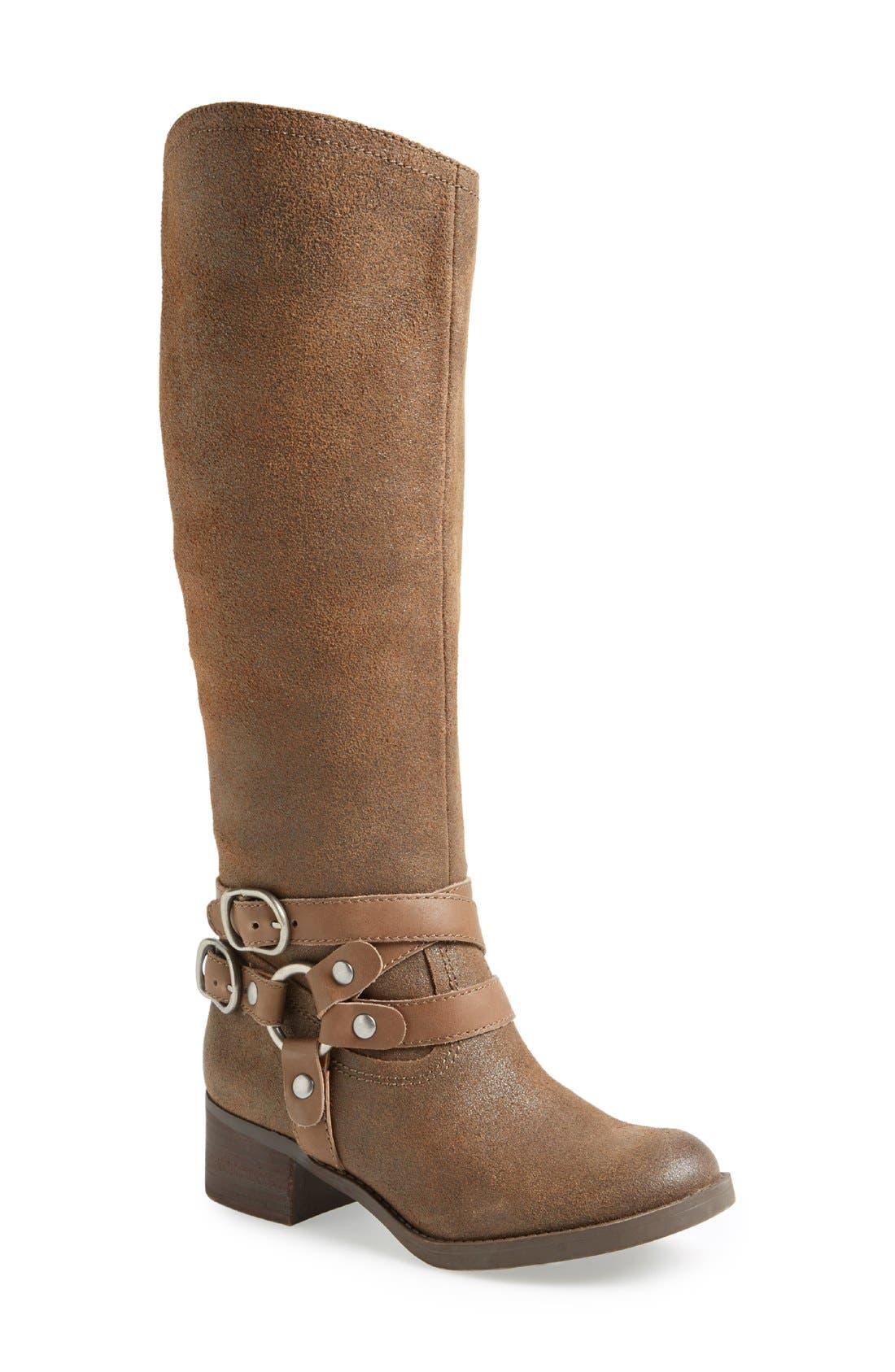 Alternate Image 1 Selected - Lucky Brand 'Hanah' Harness Boot (Women) (Wide Calf)