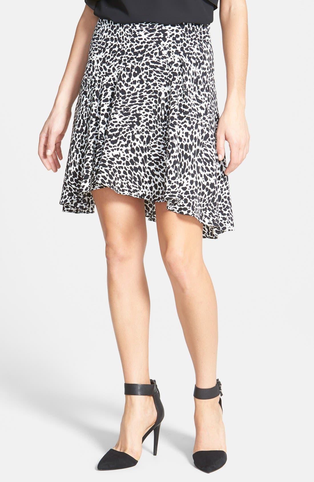 Alternate Image 1 Selected - Vince Camuto 'Animal Flurry' Asymmetrical Flounce Skirt