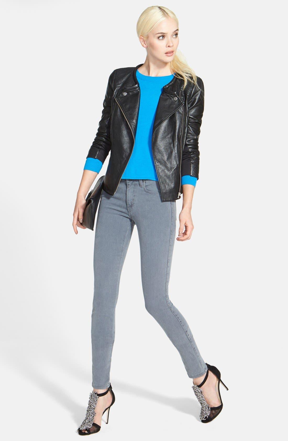 Alternate Image 5  - Trouvé Stitch Detail Leather Jacket