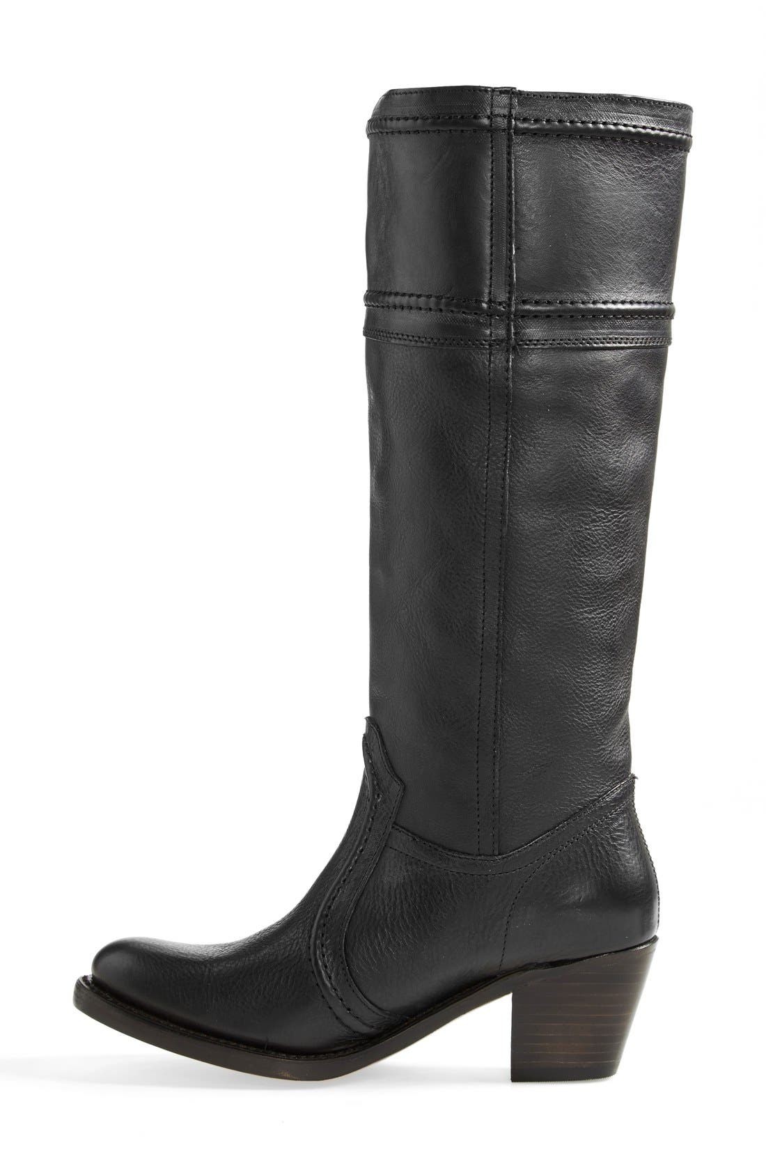 'Jane 14' Tall Pull-On Boot,                             Alternate thumbnail 3, color,                             Black