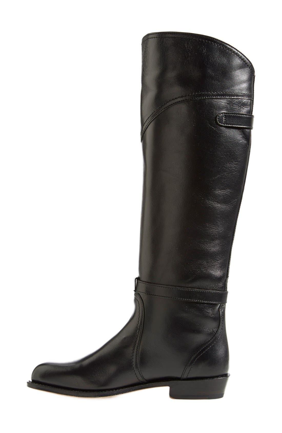 'Dorado' Leather Riding Boot,                             Alternate thumbnail 2, color,                             Black