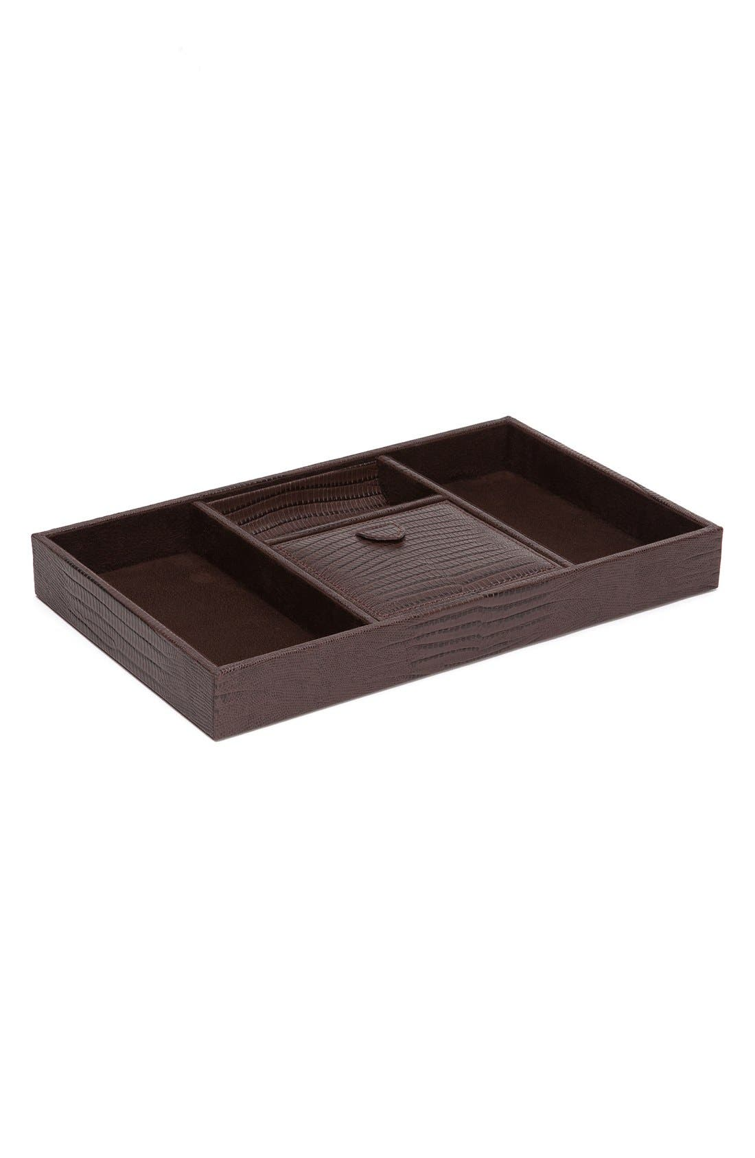 Blake Valet Tray,                         Main,                         color, Brown Lizard