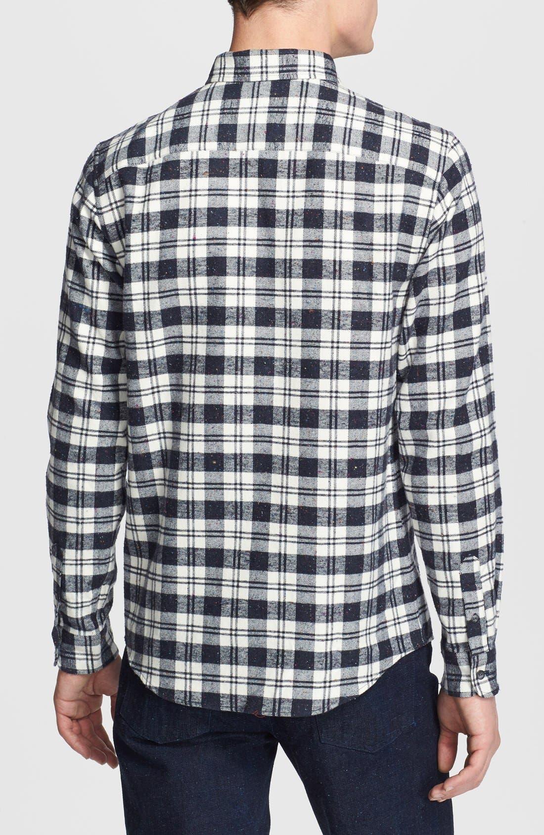 Alternate Image 2  - A.P.C. Plaid Flannel Shirt