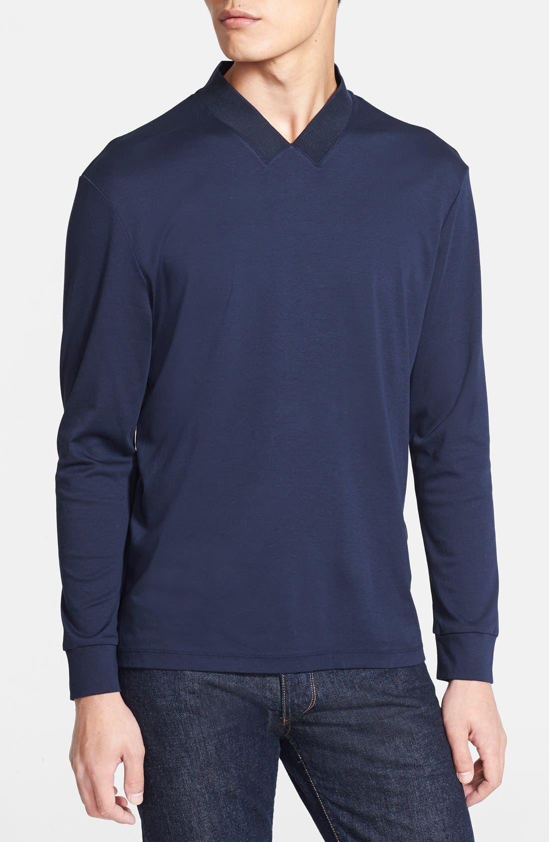 Alternate Image 1 Selected - Armani Collezioni Cotton Jersey T-Shirt
