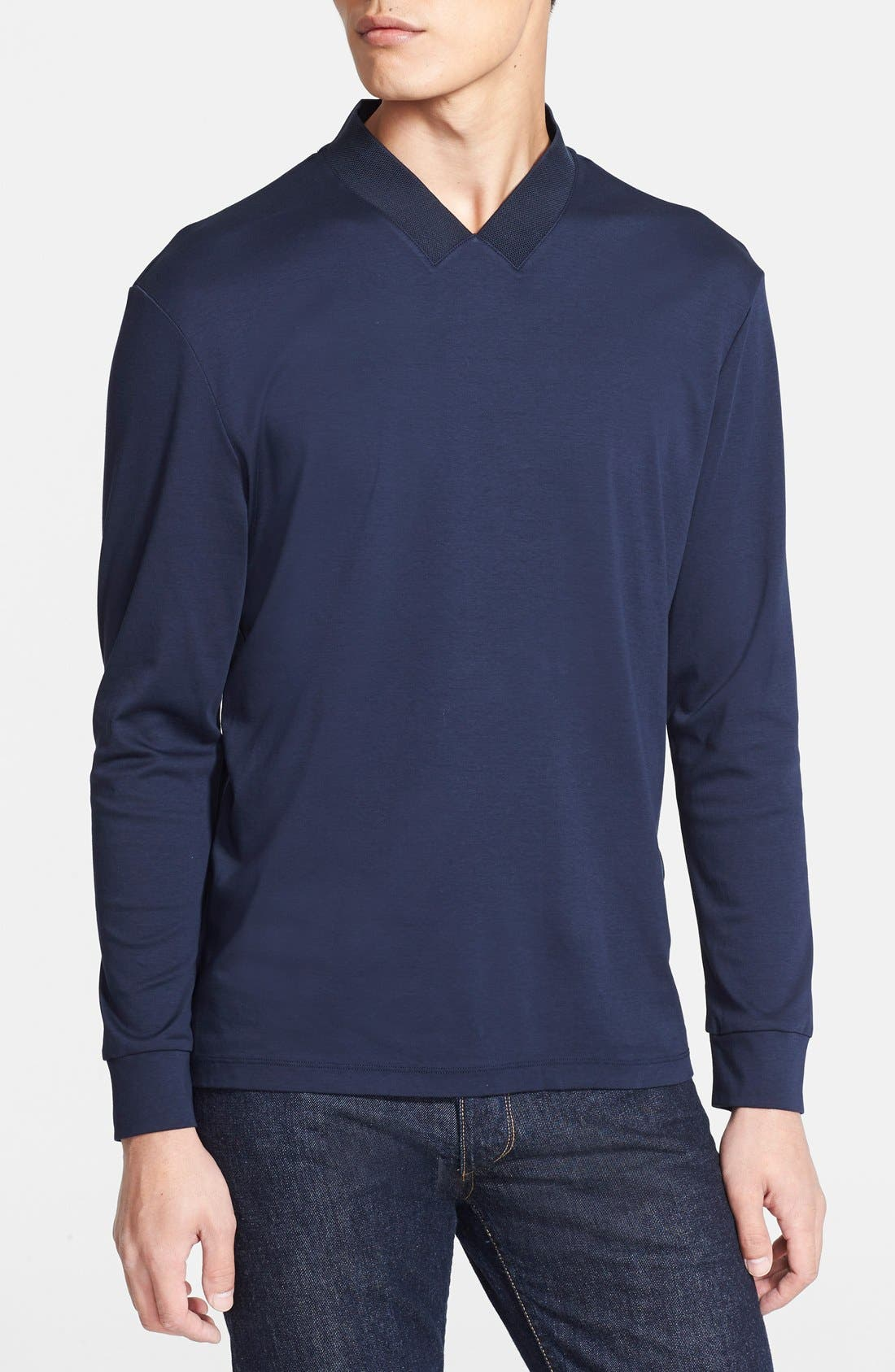 Main Image - Armani Collezioni Cotton Jersey T-Shirt