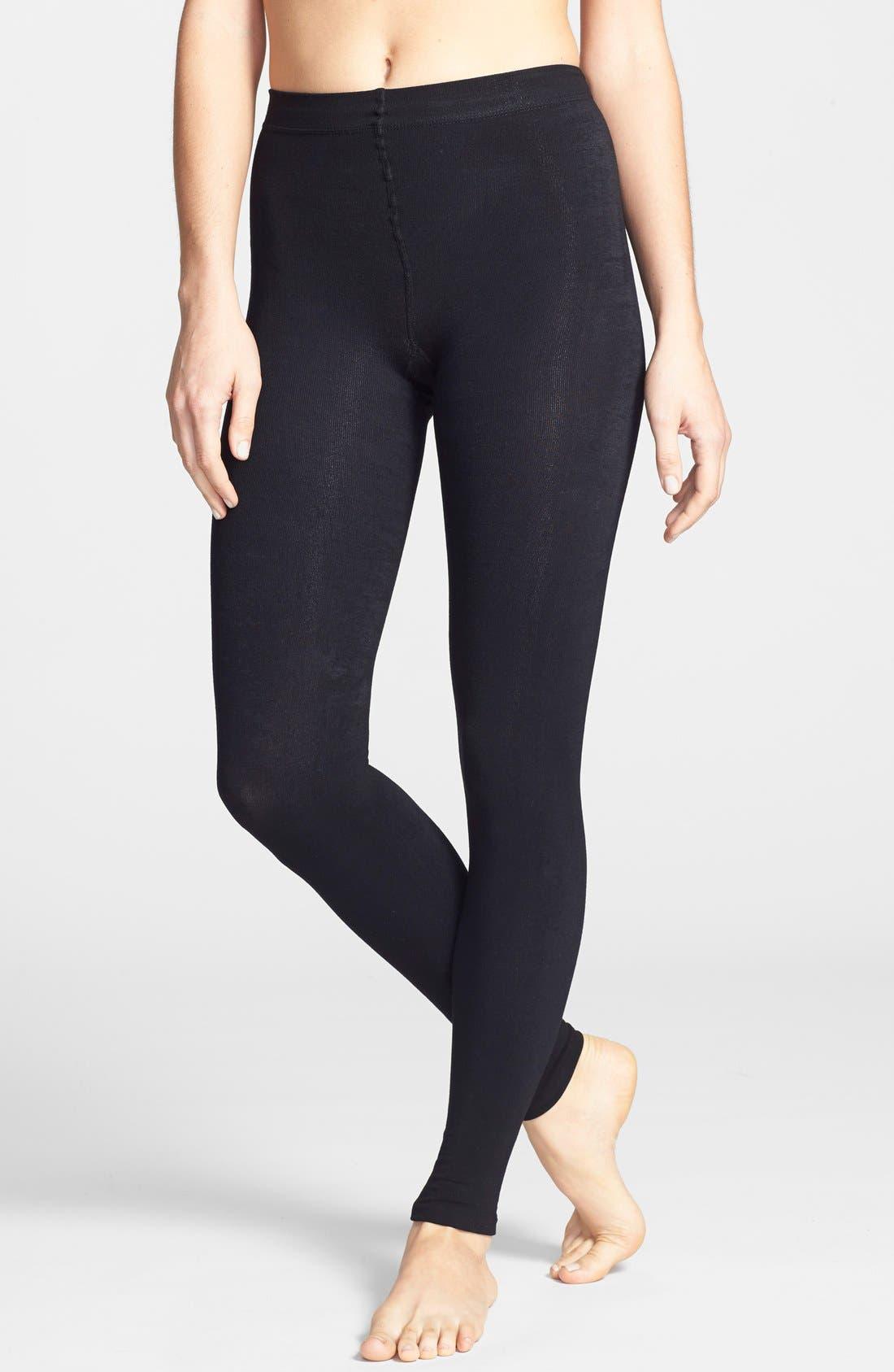 Donna Karan 'Luxe Layer' Leggings,                             Main thumbnail 1, color,                             Black
