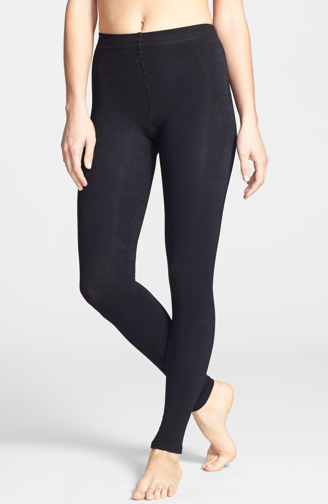 Donna Karan 'Luxe Layer' Leggings,                         Main,                         color, Black