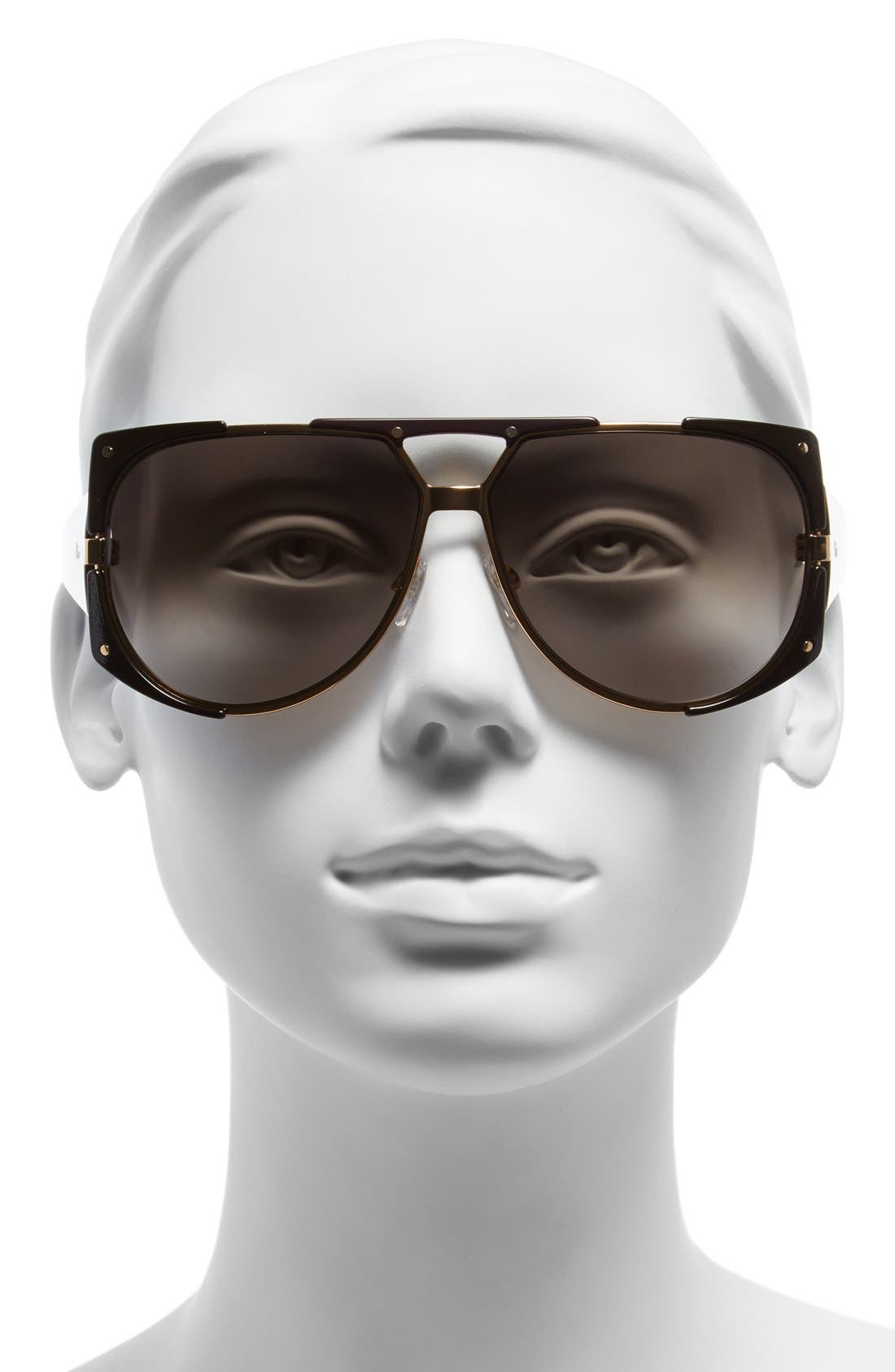 Alternate Image 2  - Dior 62mm 'Enigmatic' Metal Shield Sunglasses