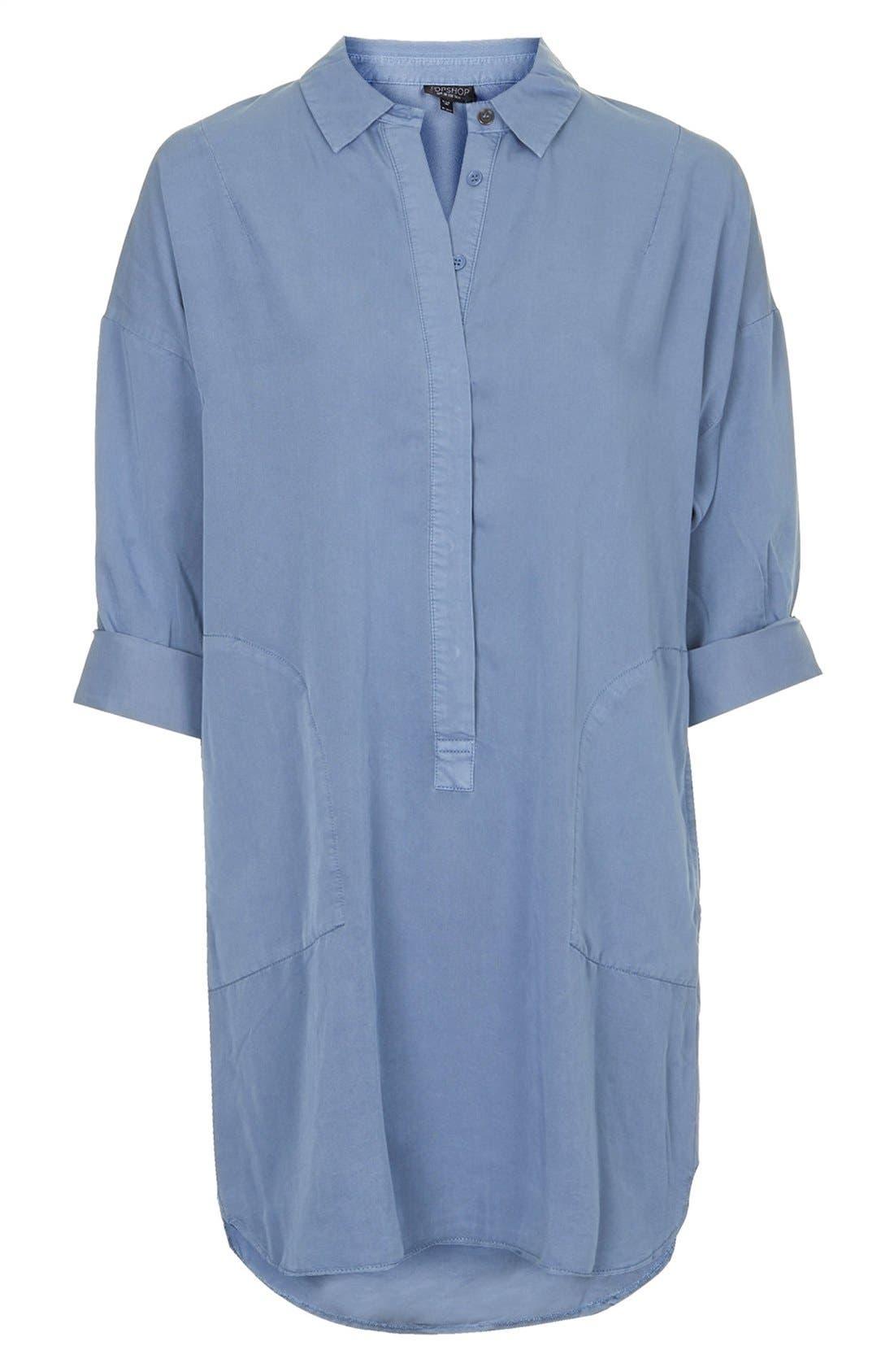 Alternate Image 4  - Topshop Relaxed Shirtdress