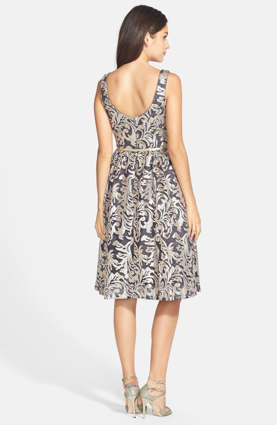 Alternate Image 2  - Donna Morgan Sequin Fit & Flare Midi Dress