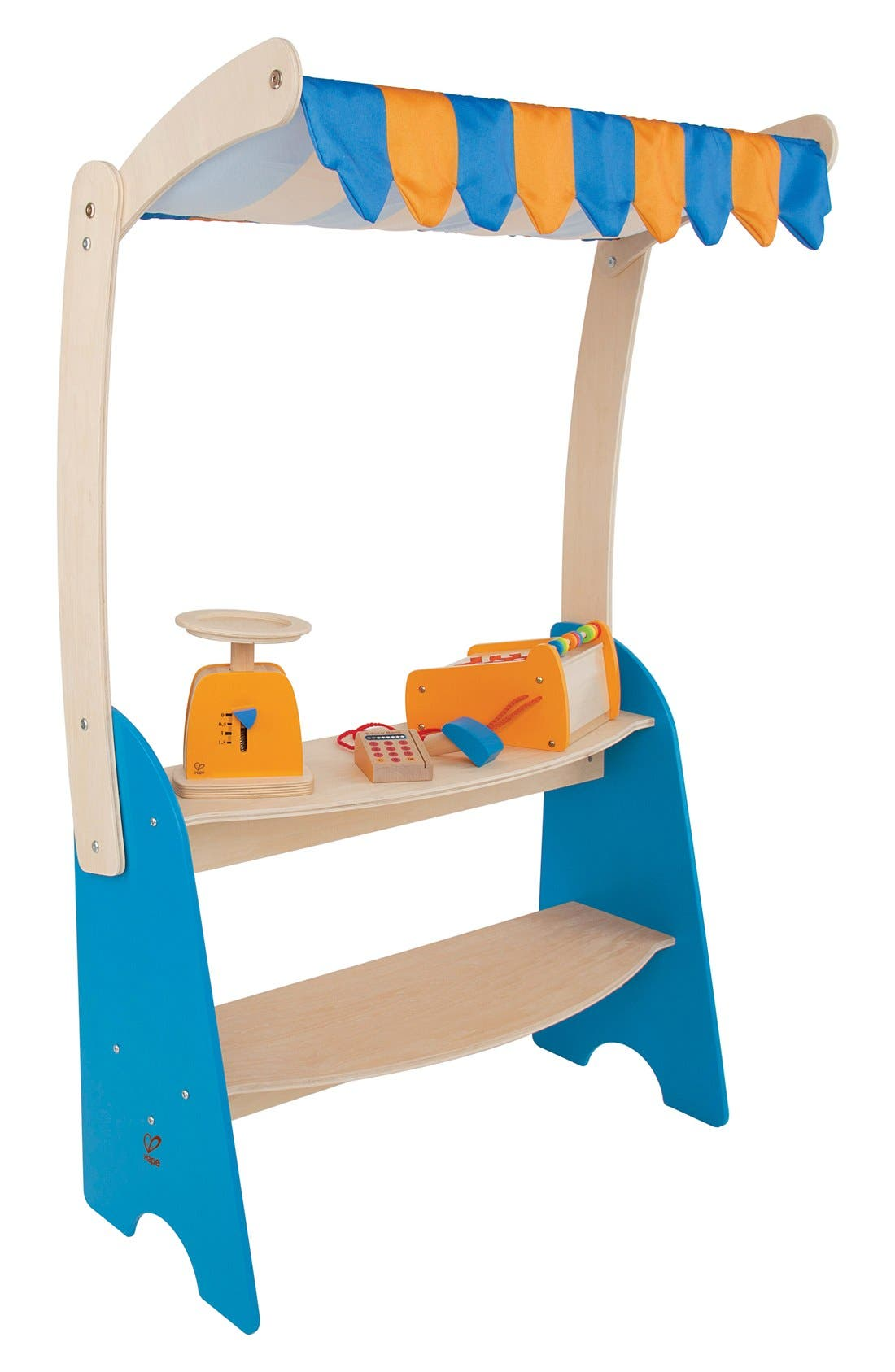 'Market Checkout' Wooden Play Store,                         Main,                         color, Blue