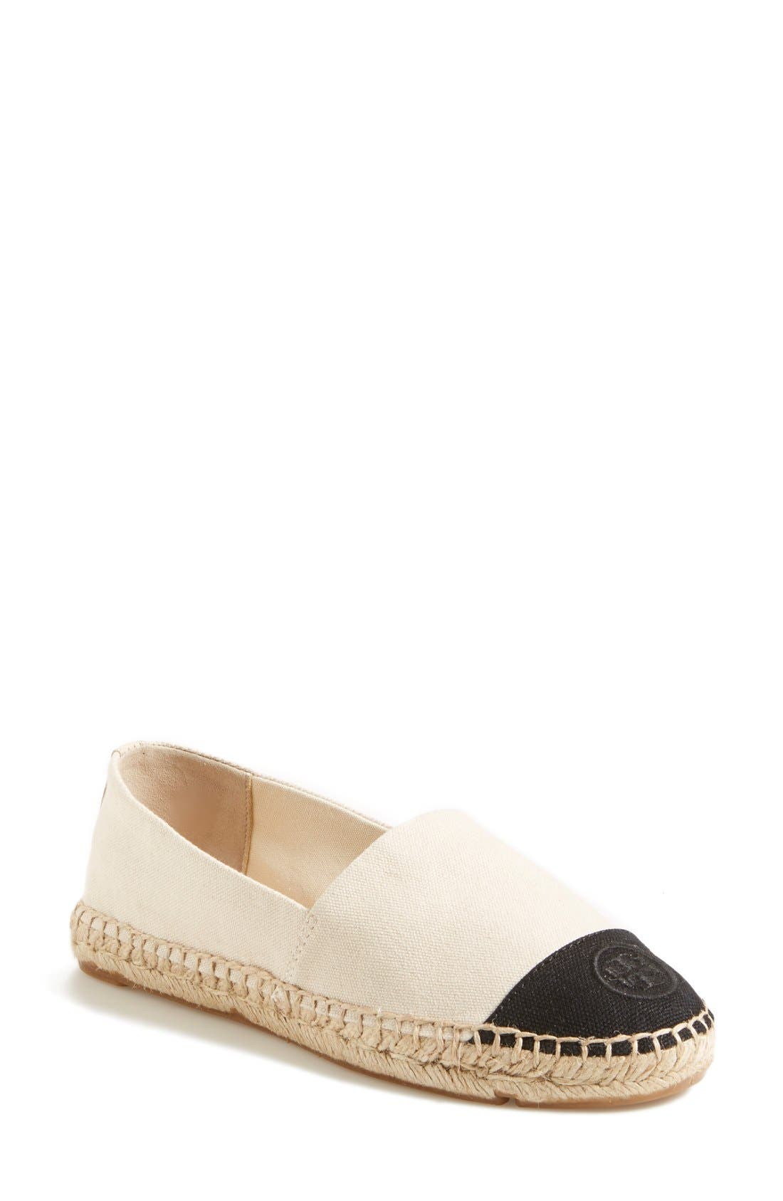Alternate Image 1 Selected - Tory Burch Canvas Espadrille (Women)