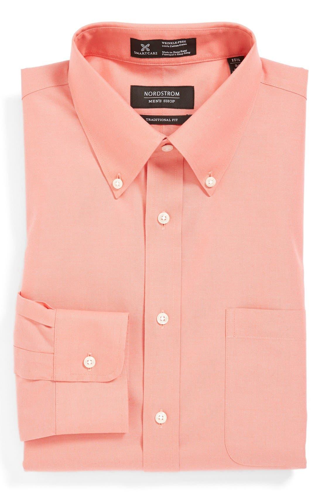 Main Image - Nordstrom Men's Shop Smartcare™ Traditional Fit Pinpoint Dress Shirt