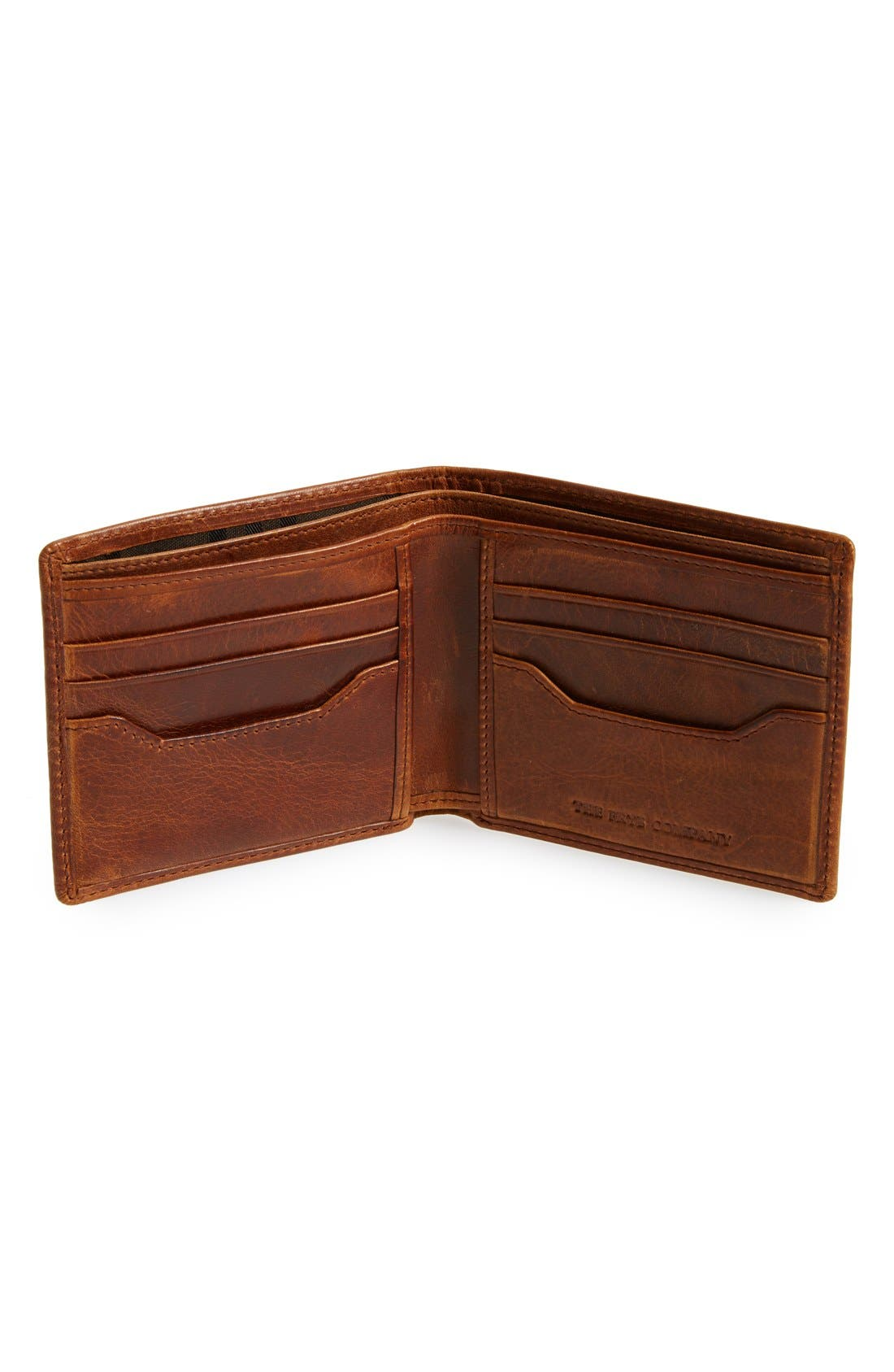 'Logan' Leather Billfold Wallet,                             Alternate thumbnail 2, color,                             Cognac