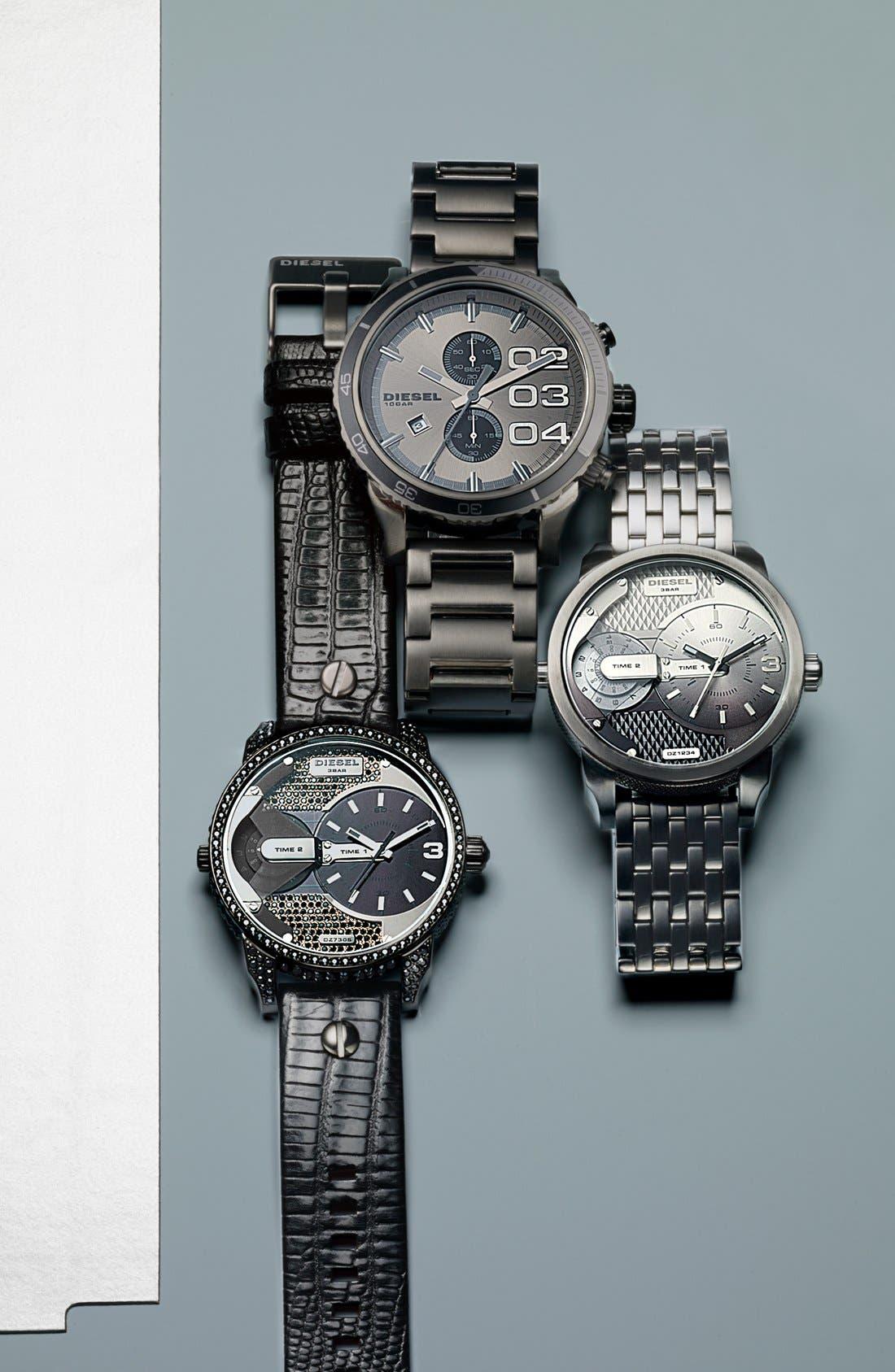 Alternate Image 3  - DIESEL® 'Double Down 2.0' Round Chronograph Bracelet Watch, 48mm