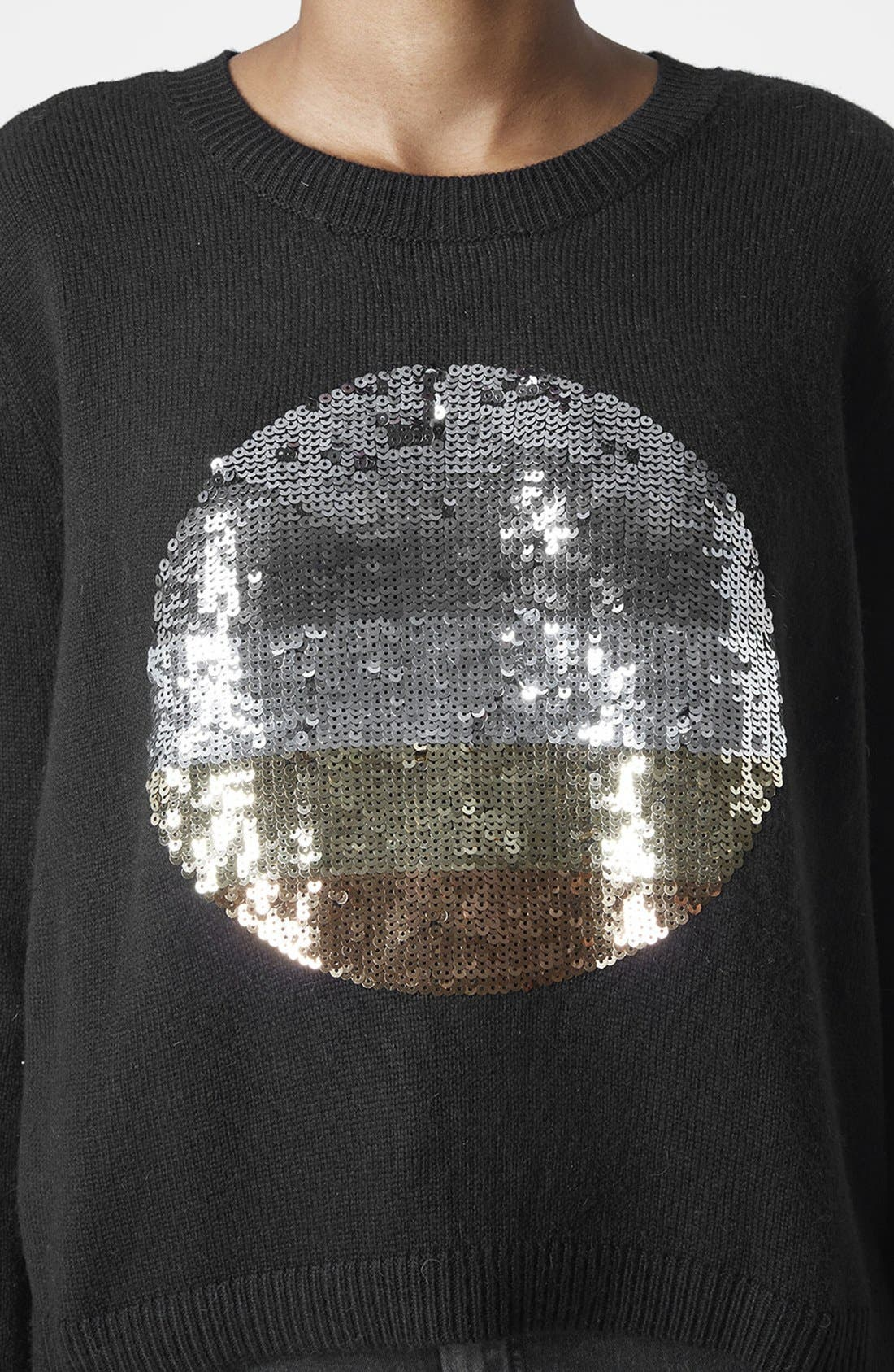 Alternate Image 4  - Topshop Sequin Spot Sweater
