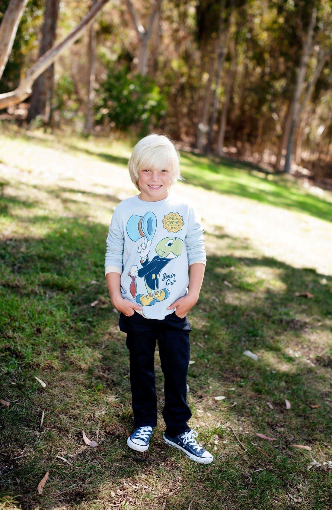Alternate Image 3  - Peek 'Disney - Jiminy Cricket' Graphic Long Sleeve T-Shirt (Toddler Boys, Little Boys & Big Boys)
