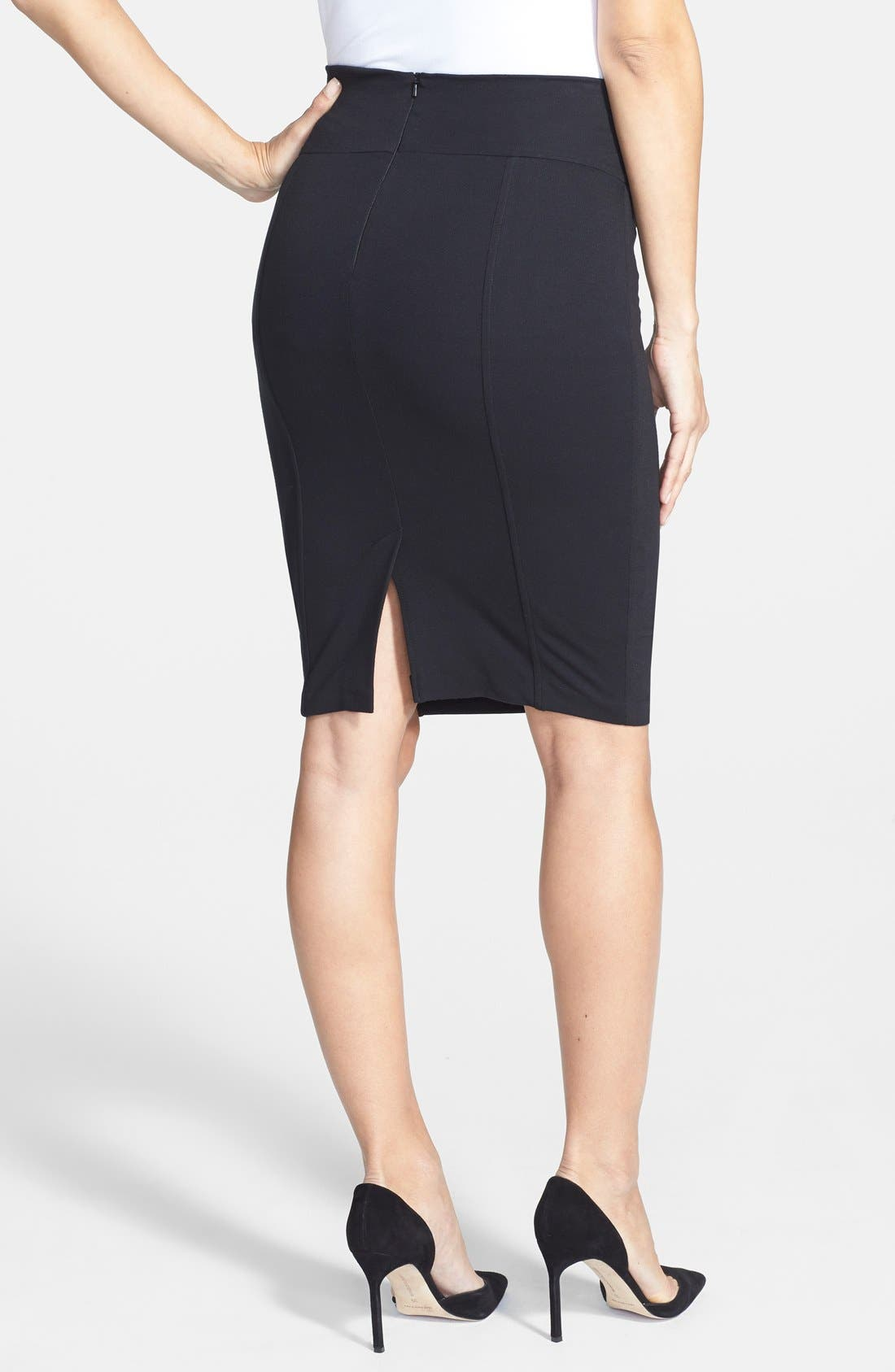 Alternate Image 2  - Eva Alexander London Tailored Ponte Knit Maternity Pencil Skirt