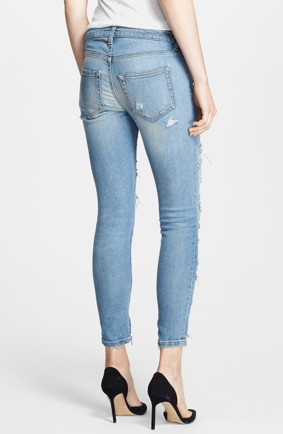 Alternate Image 2  - Faith Connexion Destroyed Ankle Jeans