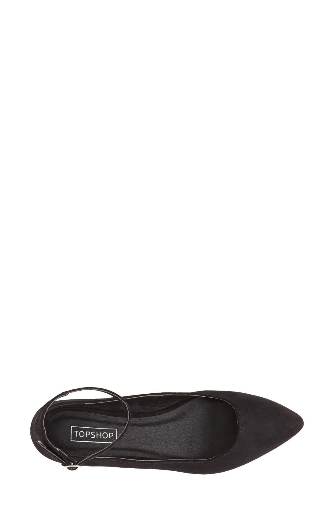Alternate Image 3  - Topshop 'Saloon' Ankle Strap Flat (Women)