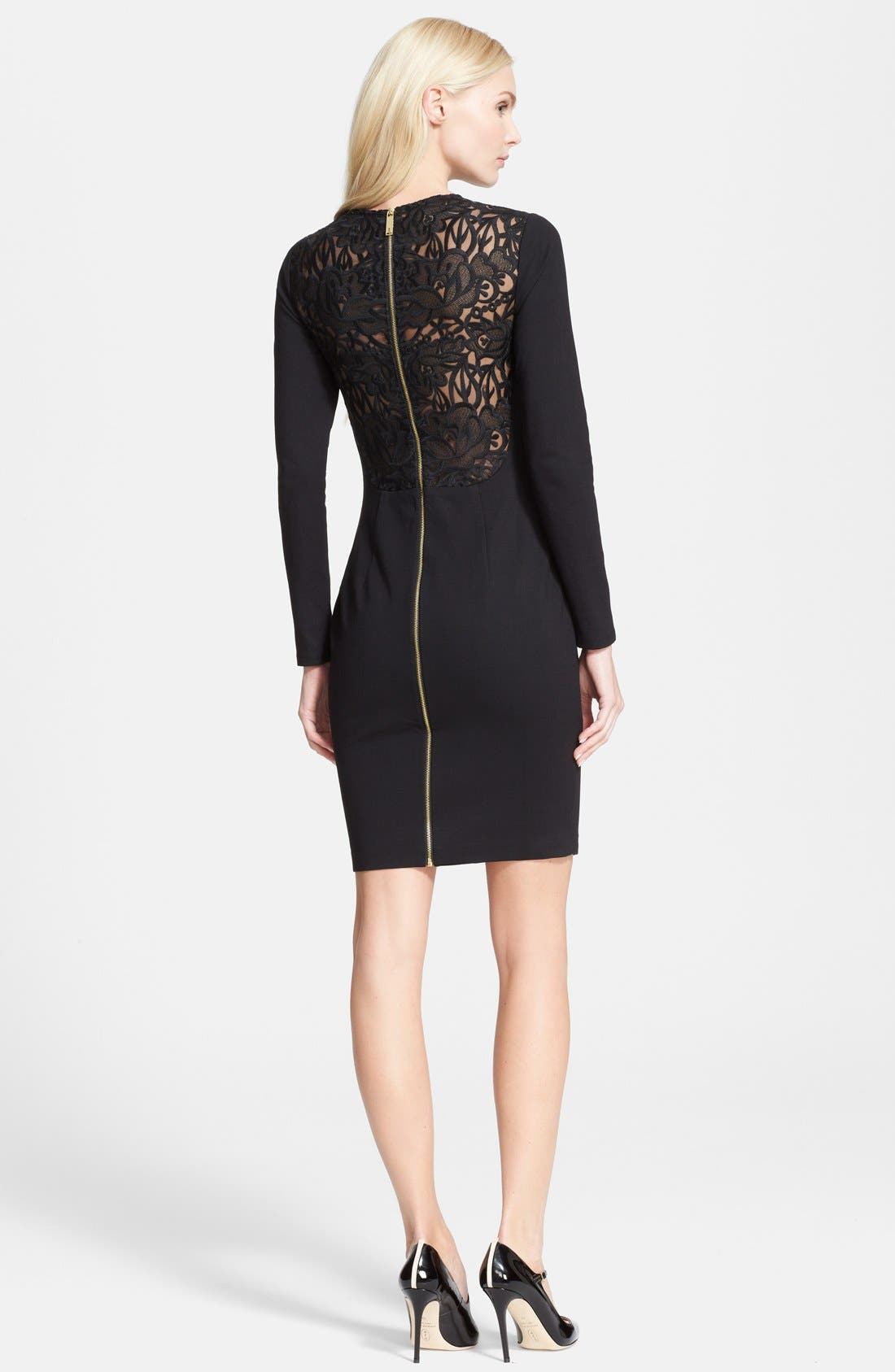 Alternate Image 2  - Ted Baker London 'Mayaa' Lace Back Tulip Hem Body-Con Dress
