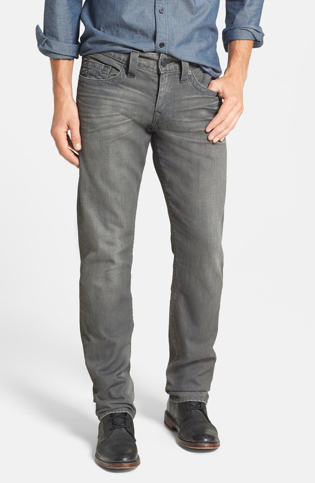 Alternate Image 1 Selected - True Religion Brand Jeans 'Geno' Straight Leg Jeans (Concrete Hill)