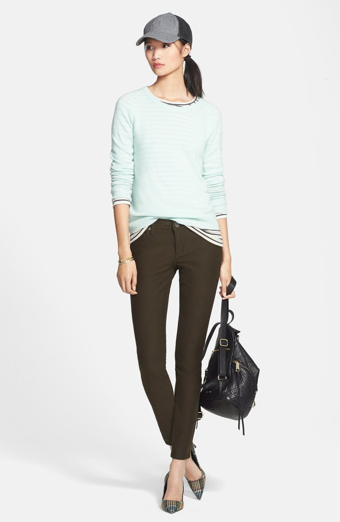 Alternate Image 4  - KUT from the Kloth 'Mia' Colored Stretch Skinny Jeans