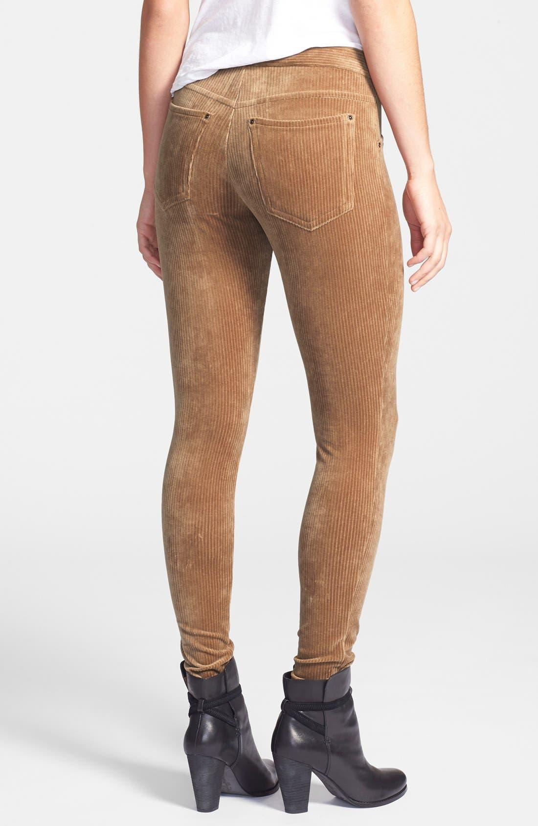 Alternate Image 2  - Hue Corduroy Leggings