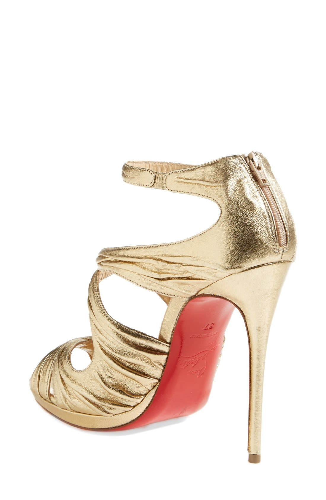 Alternate Image 2  - Christian Louboutin 'Kashou' Metallic Nappa Leather Sandal