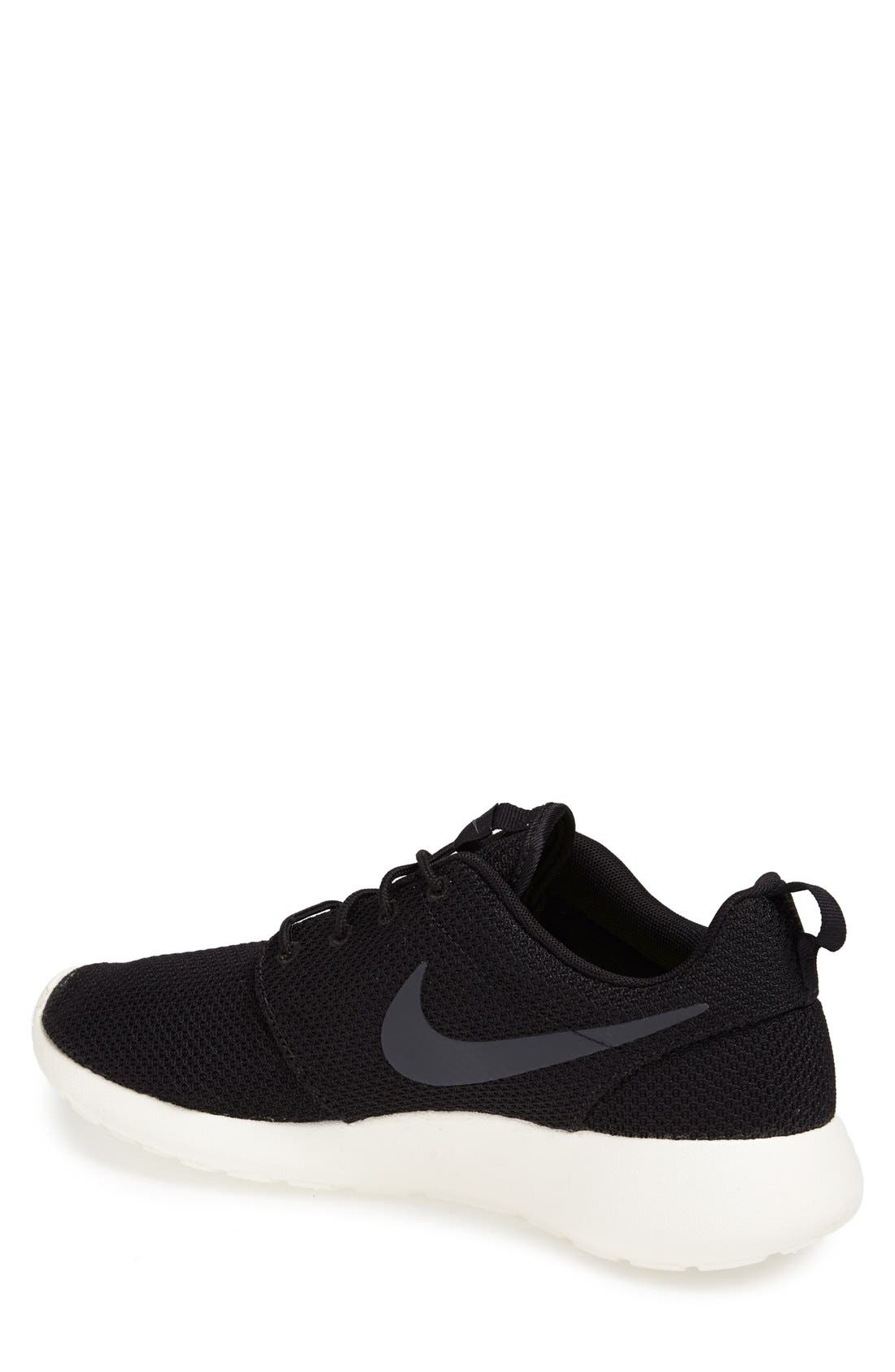 'Roshe Run' Sneaker,                             Alternate thumbnail 2, color,                             Black/ Anthracite/ Sail