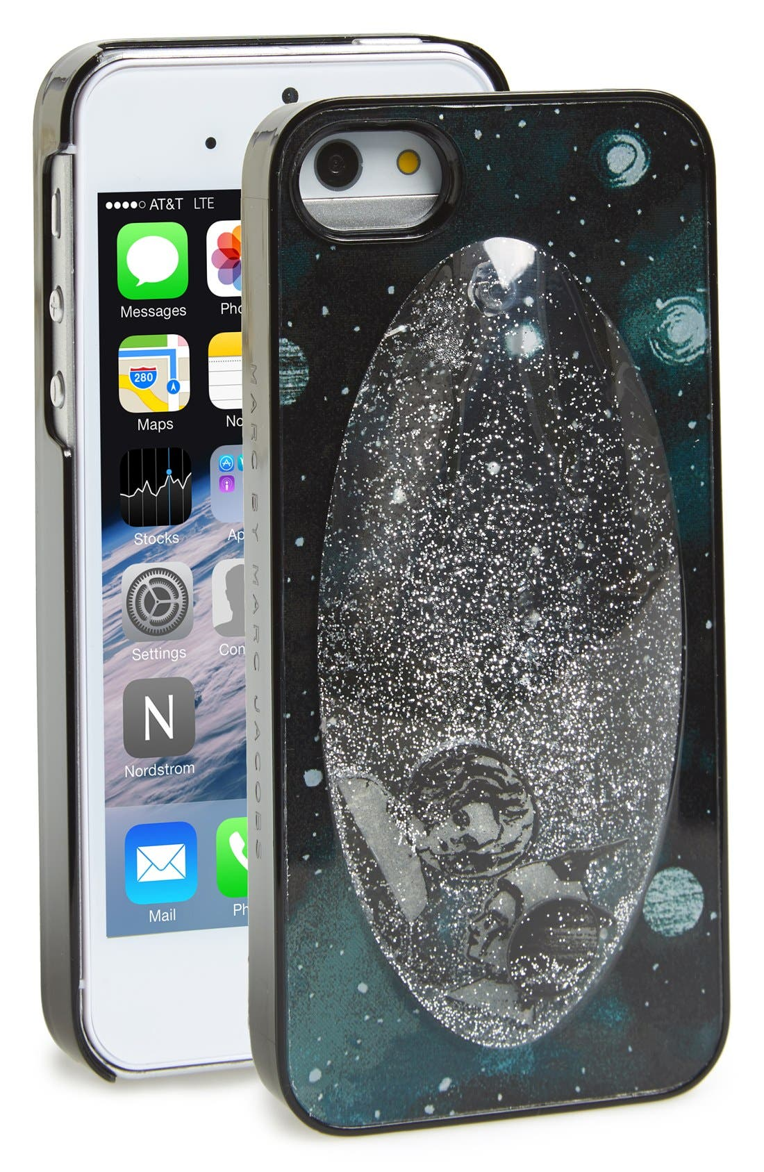 Alternate Image 1 Selected - MARC BY MARC JACOBS 'Snowglobe' Glitter Fill iPhone 5 & 5s Case
