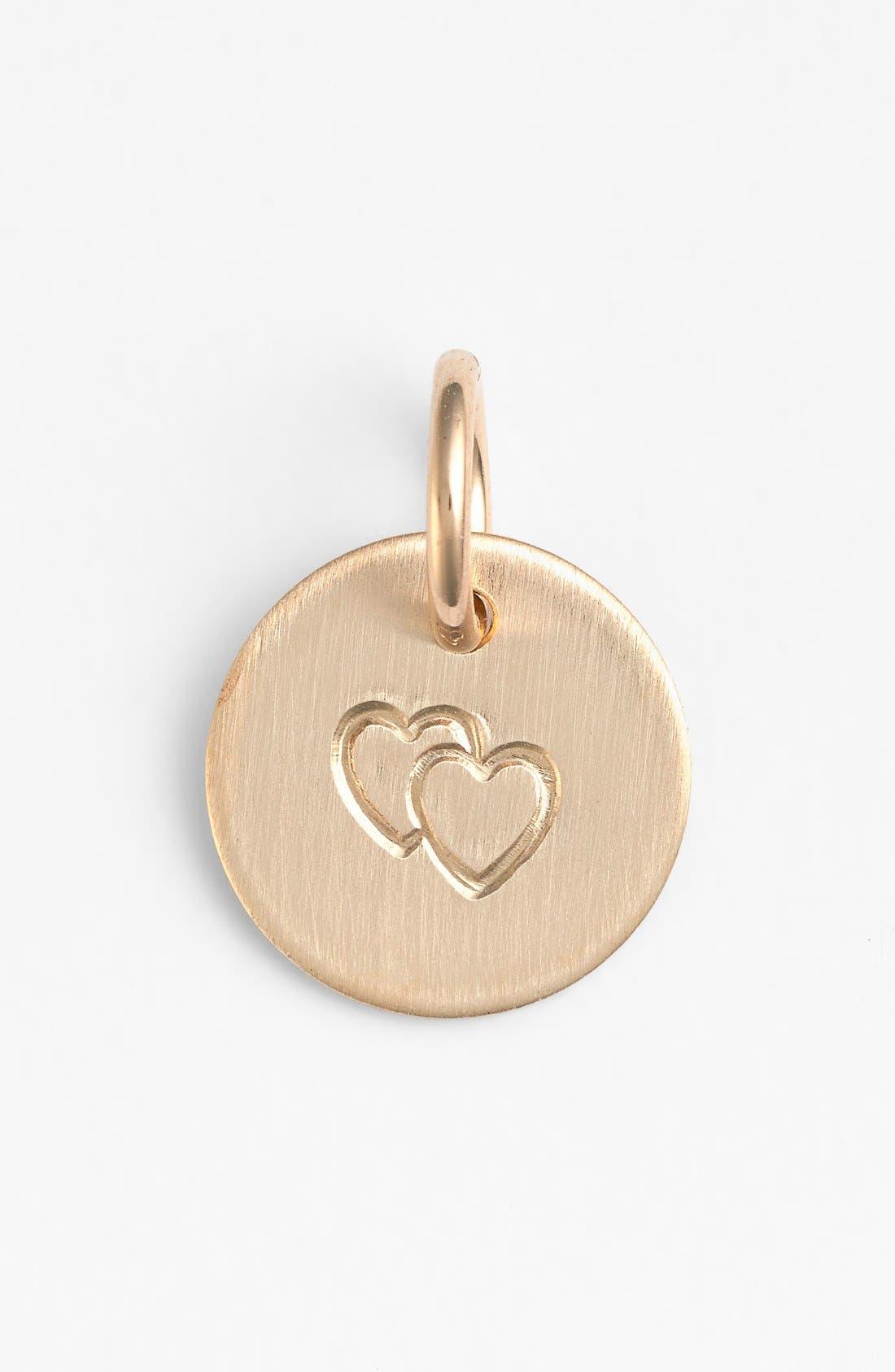 Nashelle Double Heart Mini Stamp Charm