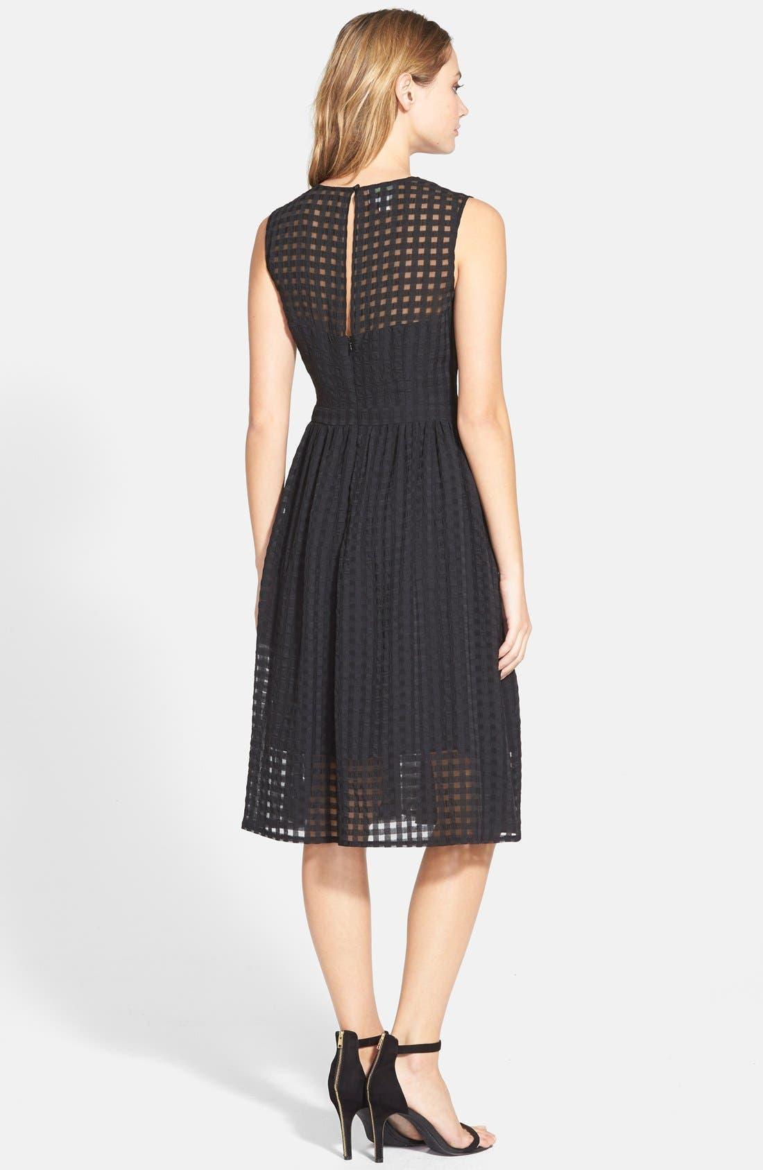 Alternate Image 2  - Donna Morgan Chiffon Fit & Flare Dress