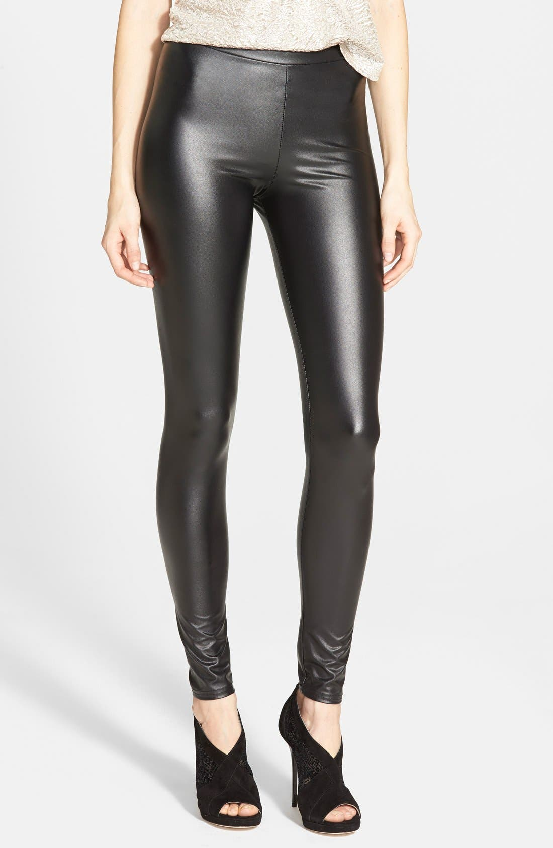 Wet look leggings topshop