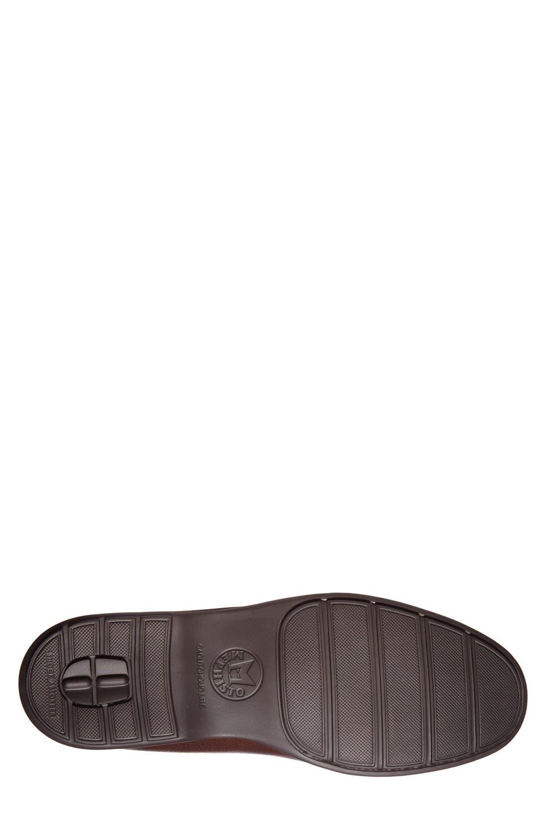 'Henri' Loafer,                             Alternate thumbnail 4, color,                             Chestnut Leather