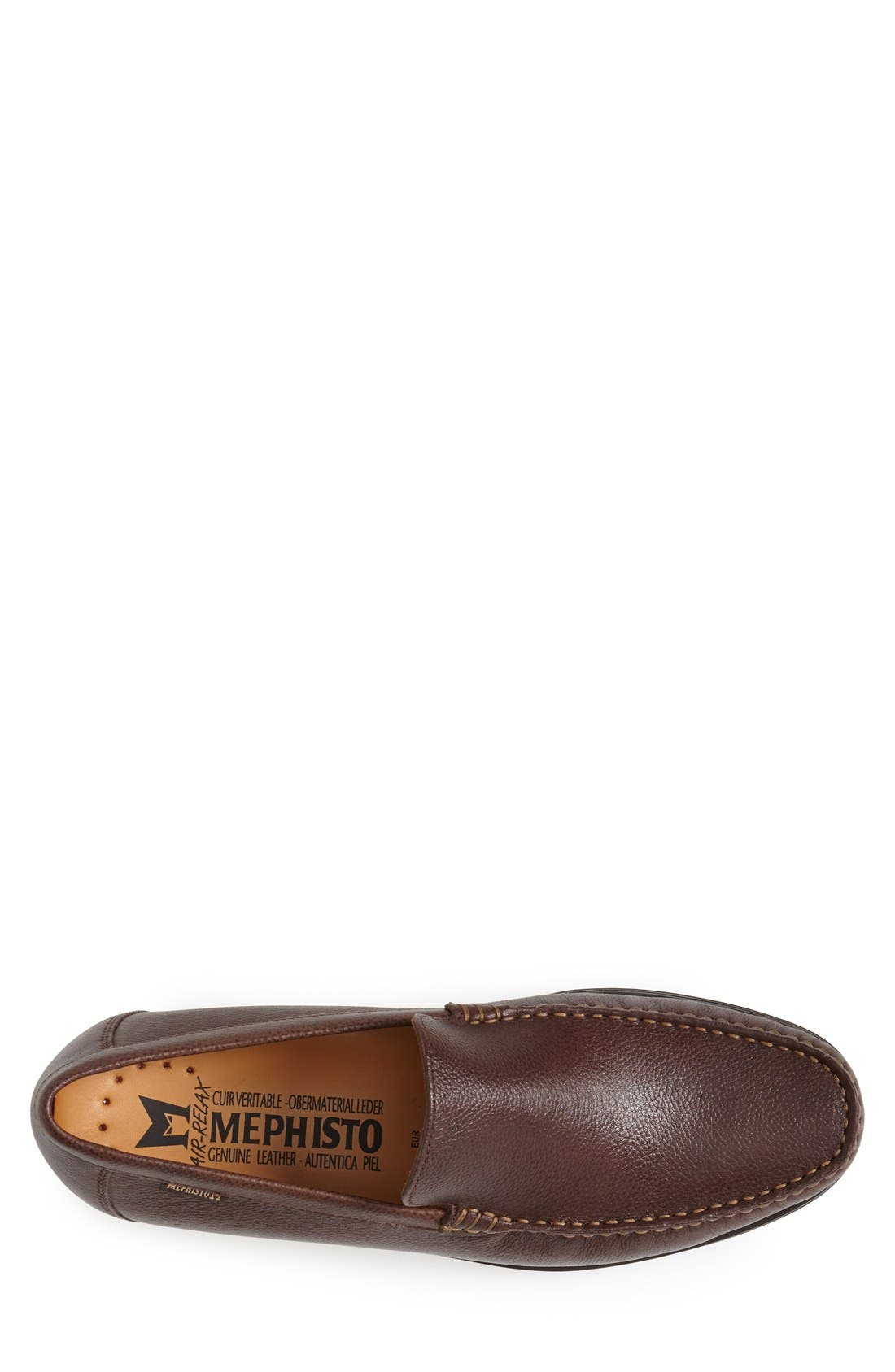 'Henri' Loafer,                             Alternate thumbnail 3, color,                             Chestnut Leather